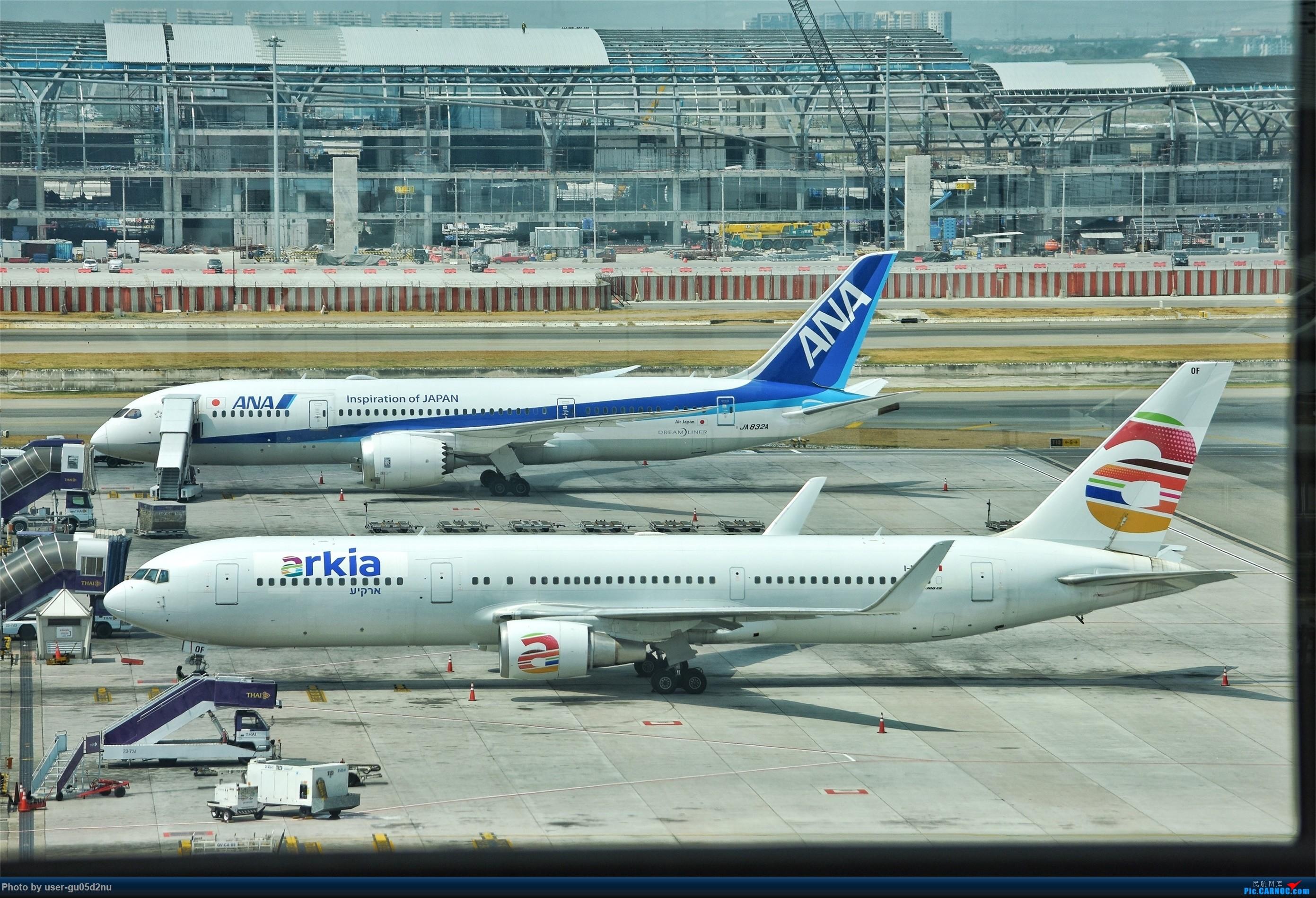[原创]曼谷素万那普观景平台视角【滑行篇】 BOEING 767-300ER I-NDOF Suvarnabhumi Airport