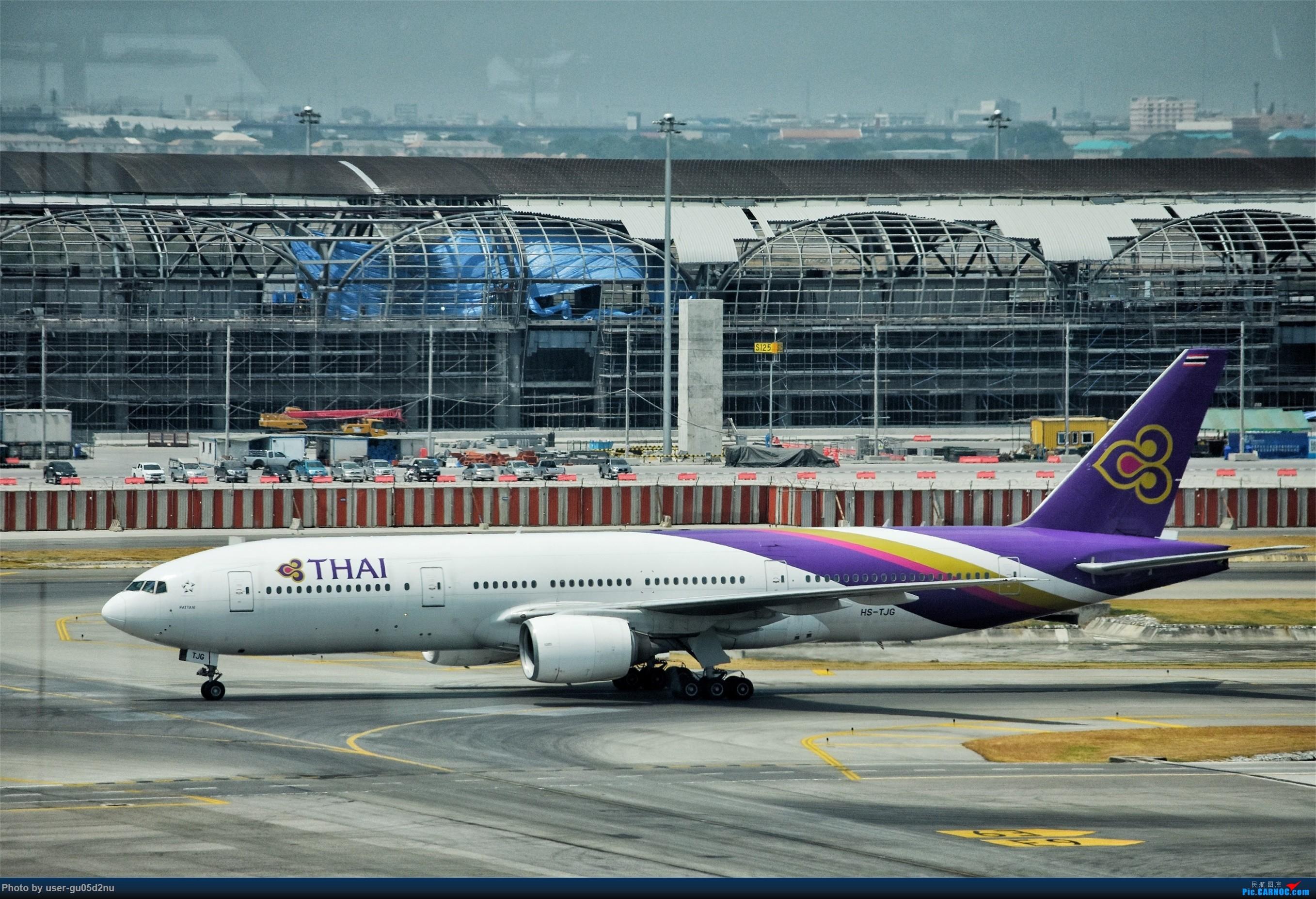 Re:[原创]曼谷素万那普观景平台视角【滑行篇】 BOEING 777 HS-TJG Suvarnabhumi Airport