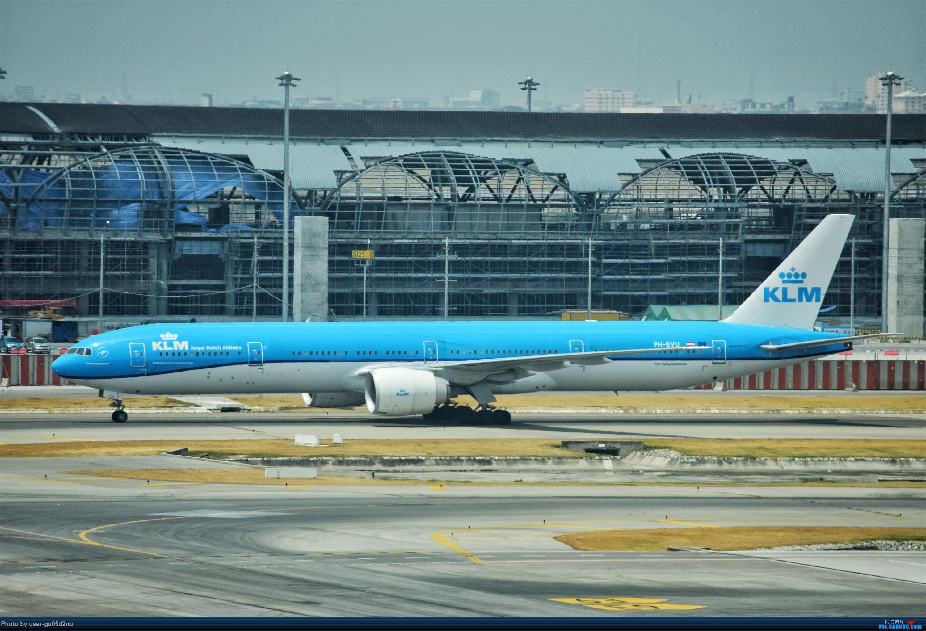 Re:[原创]曼谷素万那普观景平台视角【滑行篇】 BOEING 777-200 PH-BVU Suvarnabhumi Airport