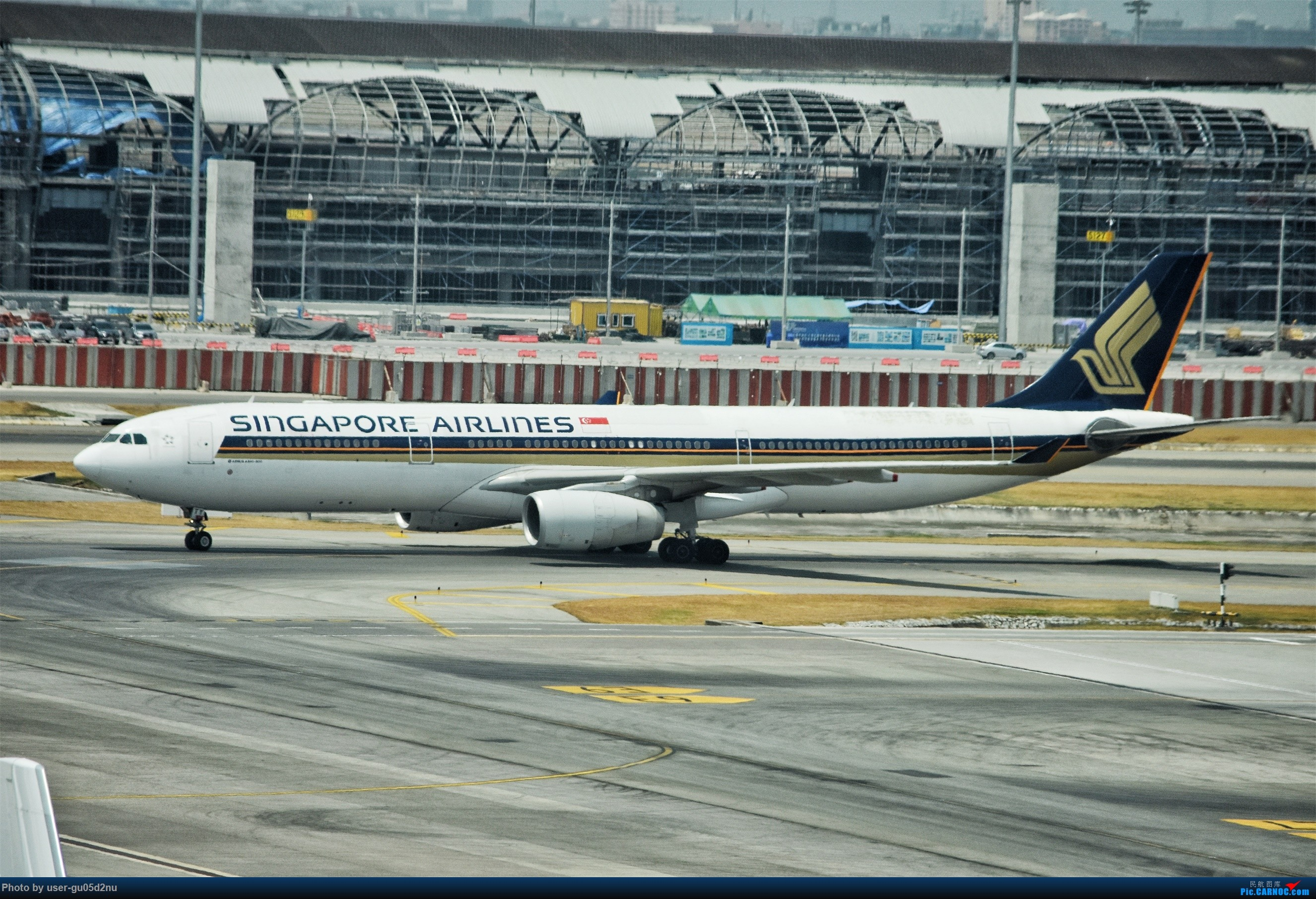 Re:[原创]曼谷素万那普观景平台视角【滑行篇】 AIRBUS A330-300 9VSSB Suvarnabhumi Airport