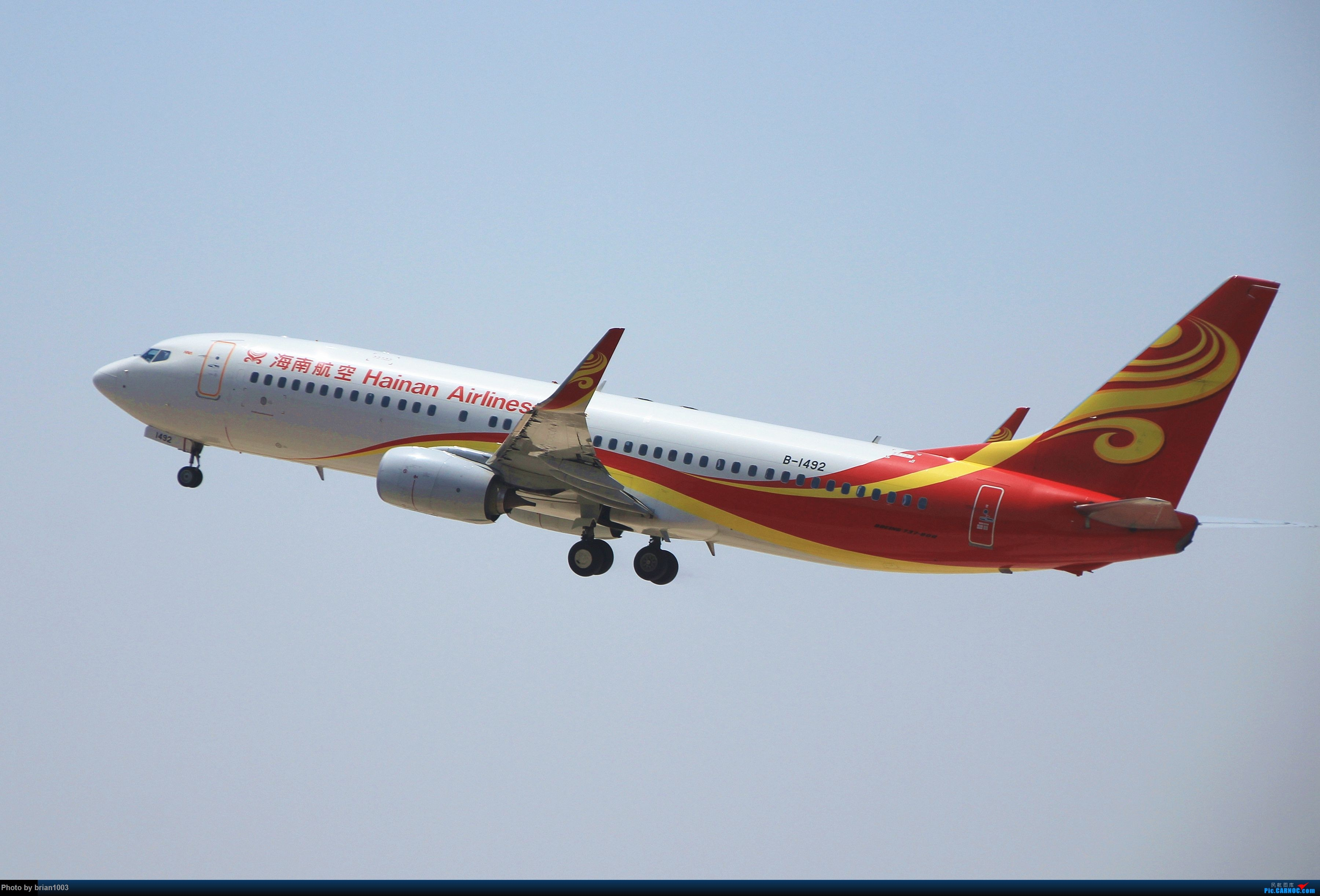 Re:[原创]WUH武汉天河机场拍机之喜迎酷航788和偶遇某其他飞机 BOEING 737-800 B-1492