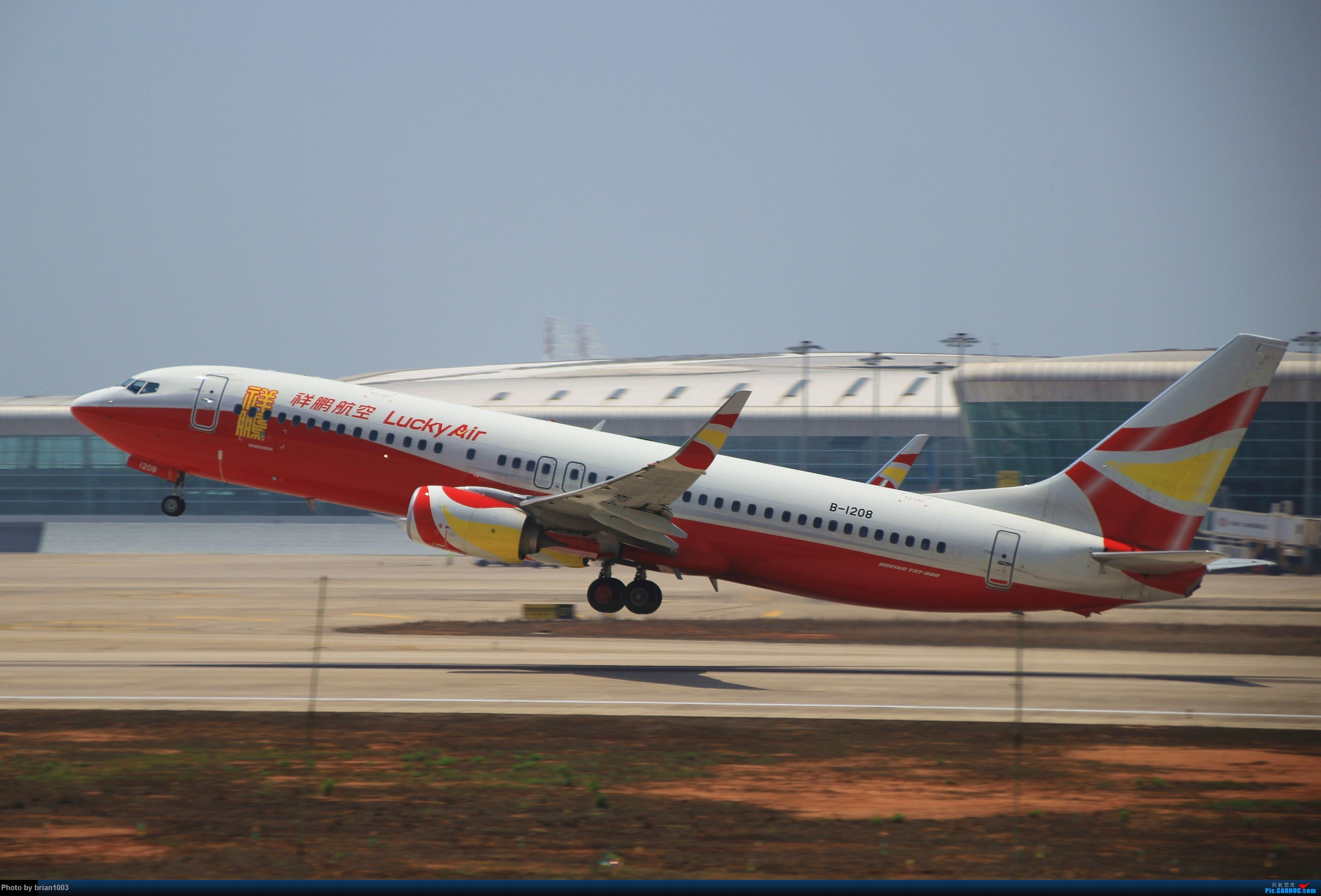 Re:[原创]WUH武汉天河机场拍机之喜迎酷航788和偶遇某其他飞机 BOEING 737-800 B-1208