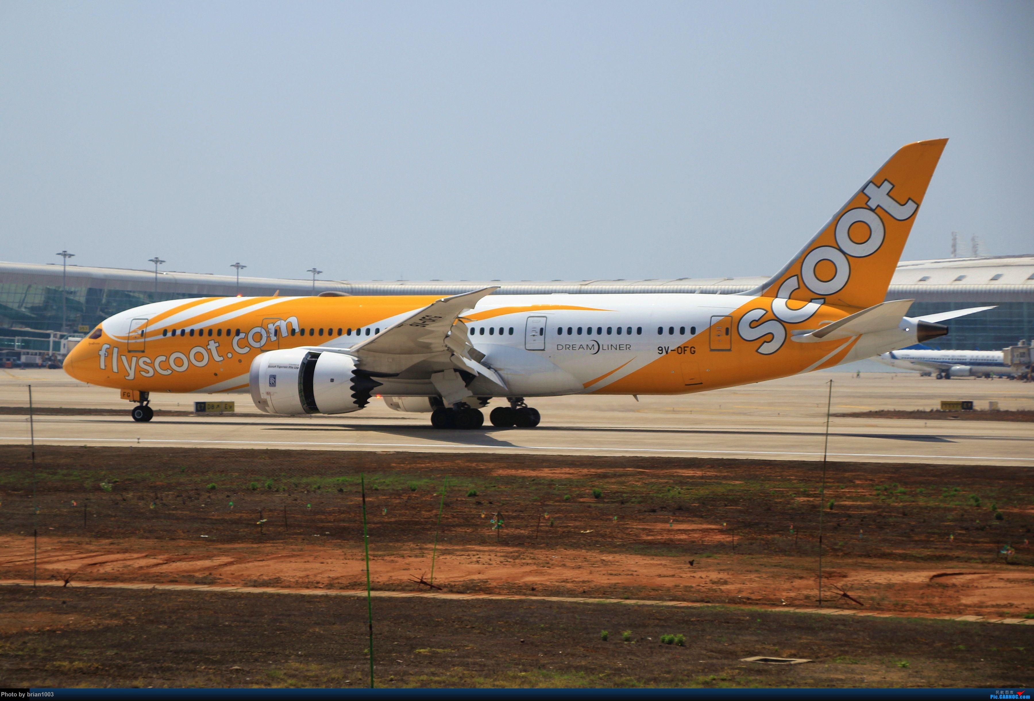 Re:[原创]WUH武汉天河机场拍机之喜迎酷航788和偶遇某其他飞机 BOEING 787-8 9V-OFG