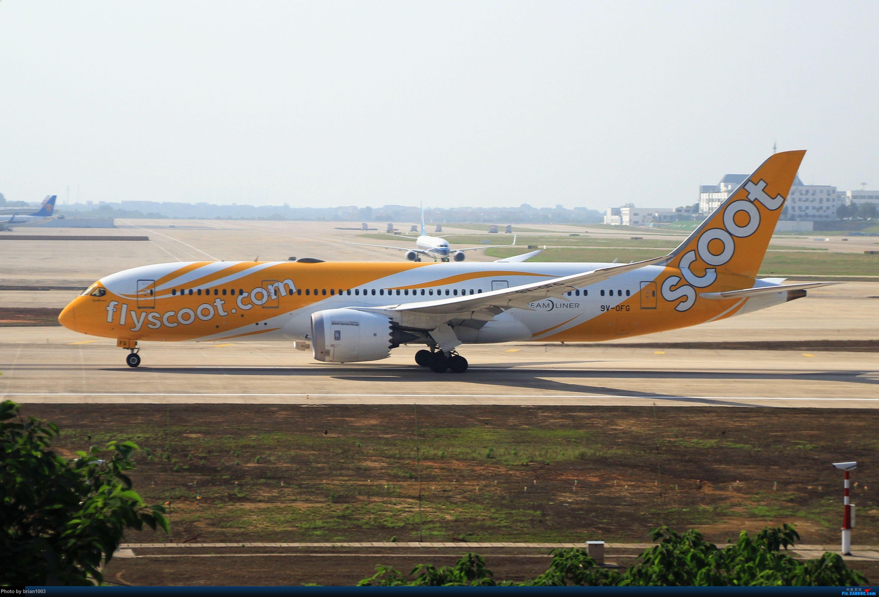 Re:[原创]WUH武汉天河机场拍机之喜迎酷航788和偶遇某其他飞机 BOEING 787-8 9V-0FG WUH