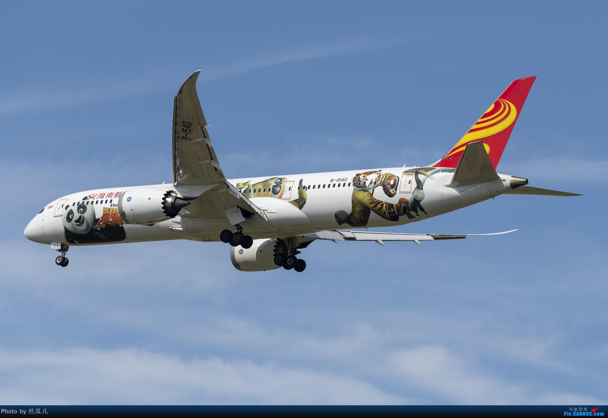 Re:[原创]【丧心病狂的丝瓜】B-1540让我再看你最后一眼----撕了一半的海航白熊猫 BOEING 787-9 B-1540 中国上海浦东国际机场