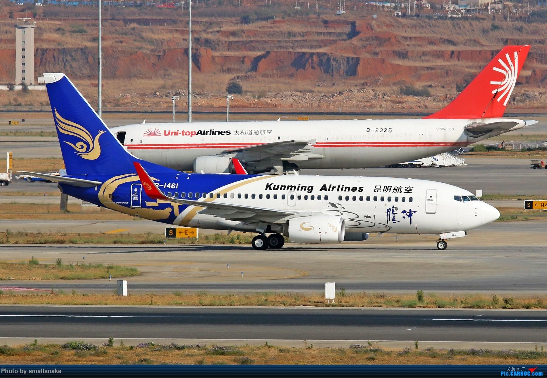 Re:[原创]KMG打卡... BOEING 737-700 B-1461 昆明长水国际机场