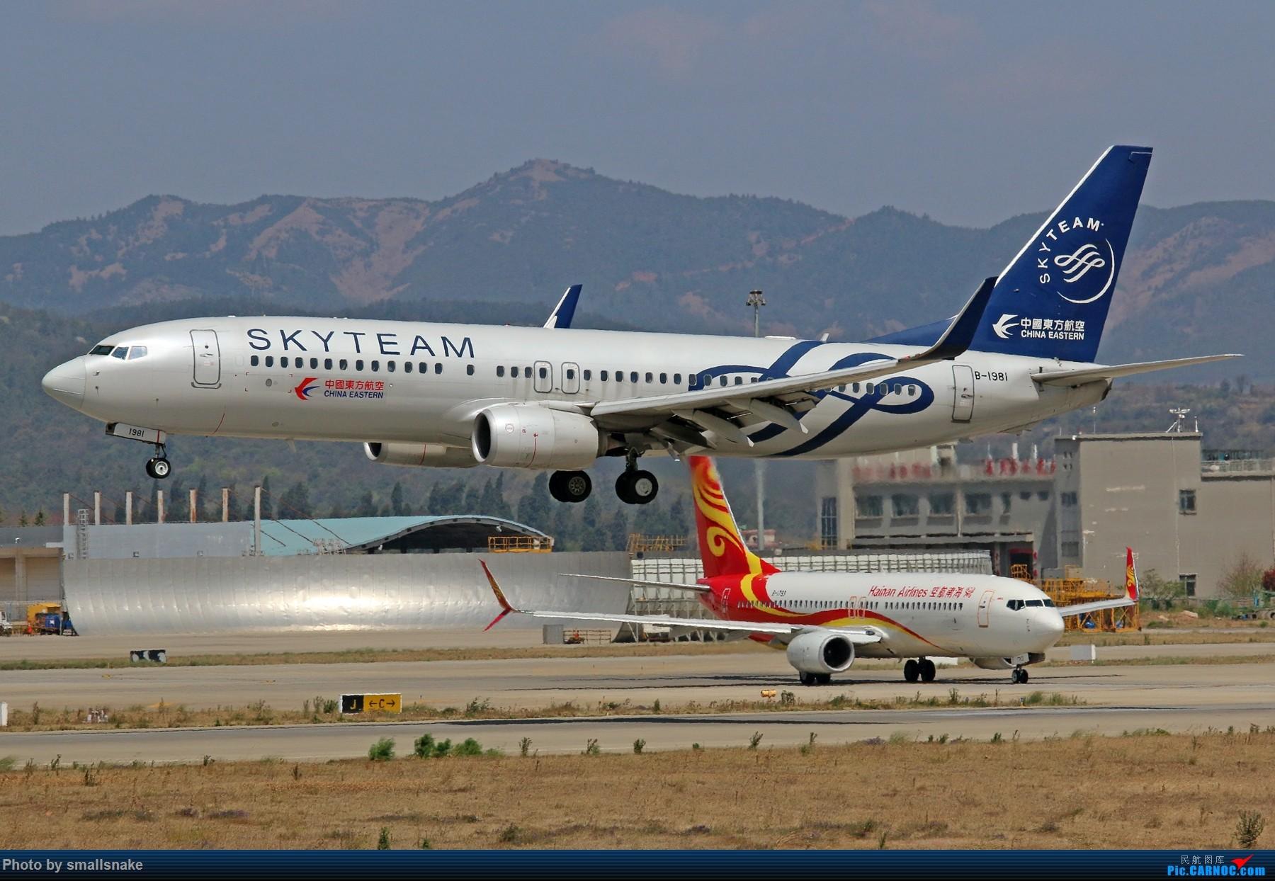 Re:[原创]KMG打卡... BOEING 737-800 B-1981 昆明长水国际机场