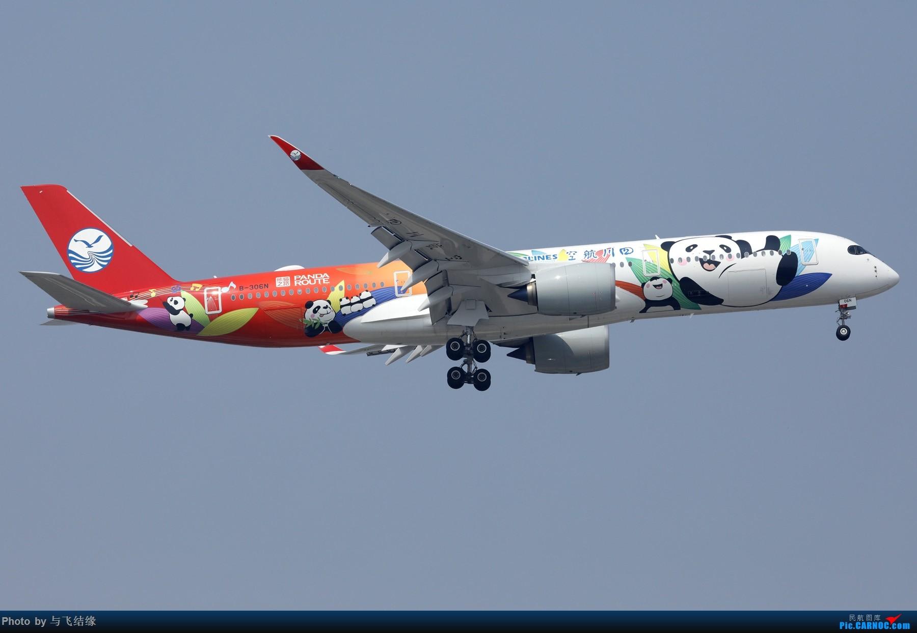 [原创]四川航空空客359熊猫彩绘二号机与国航空客359星空联盟彩绘机。 AIRBUS A350-900 B-306N 中国北京首都国际机场