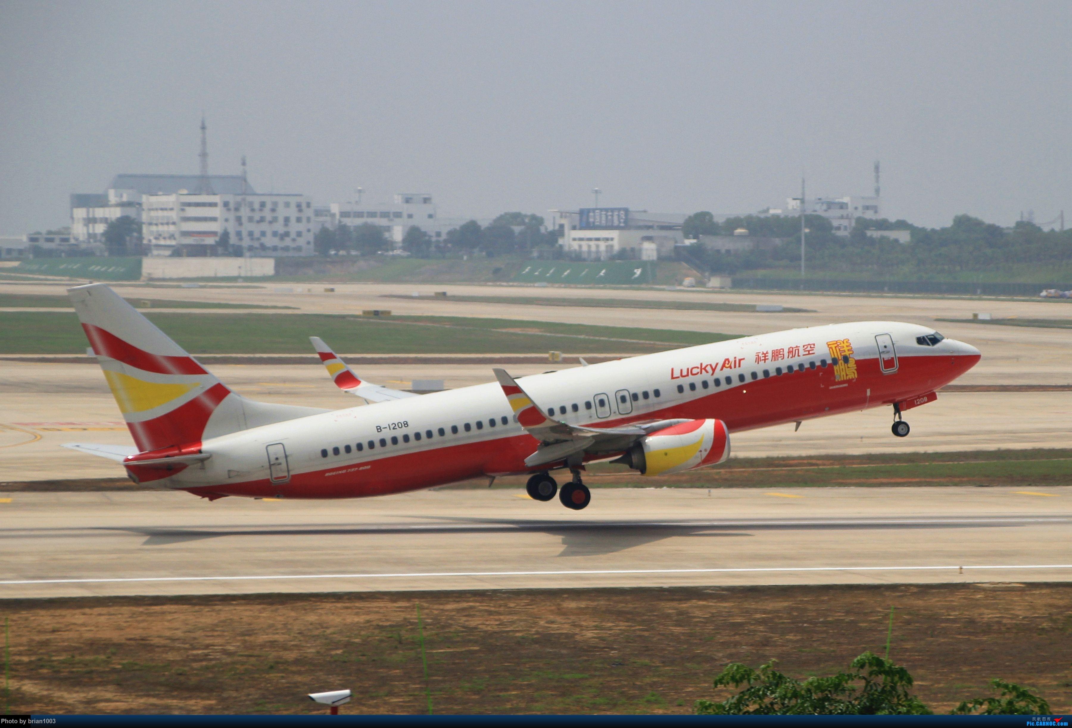 Re:[原创]WUH武汉天河机场拍机之二跑最后忙碌时 BOEING 737-800 B-1208 中国武汉天河国际机场