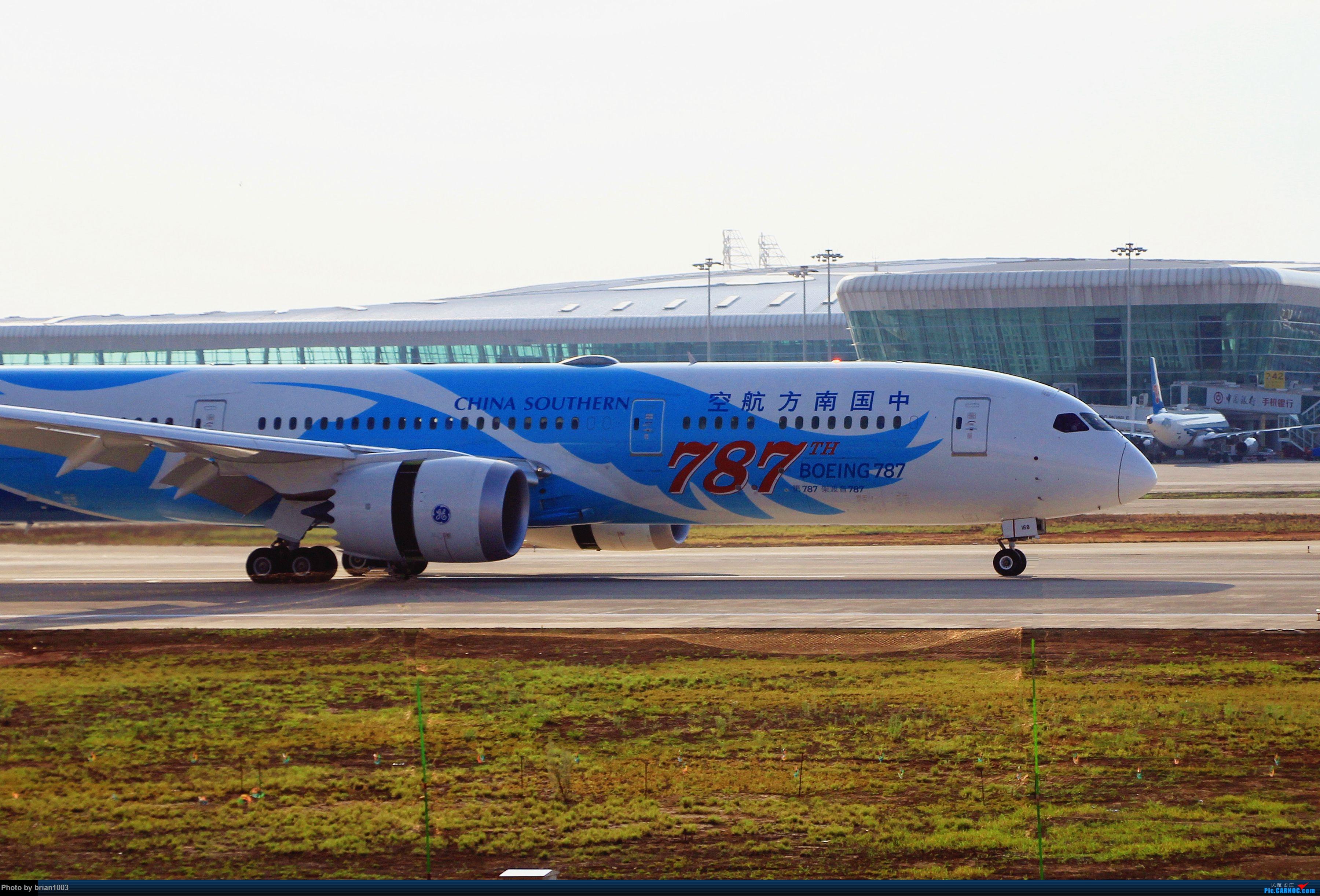 [原创]WUH武汉天河机场拍机之喜迎纽约直飞 BOEING 787-9 B-1168 中国武汉天河国际机场