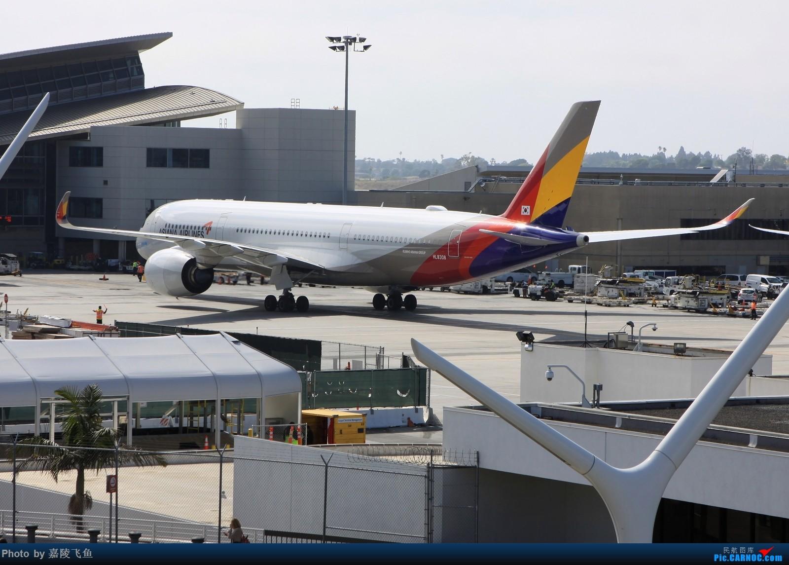 [原创]LAX 韩亚350 AIRBUS A350-900 HL8308 美国洛杉矶机场