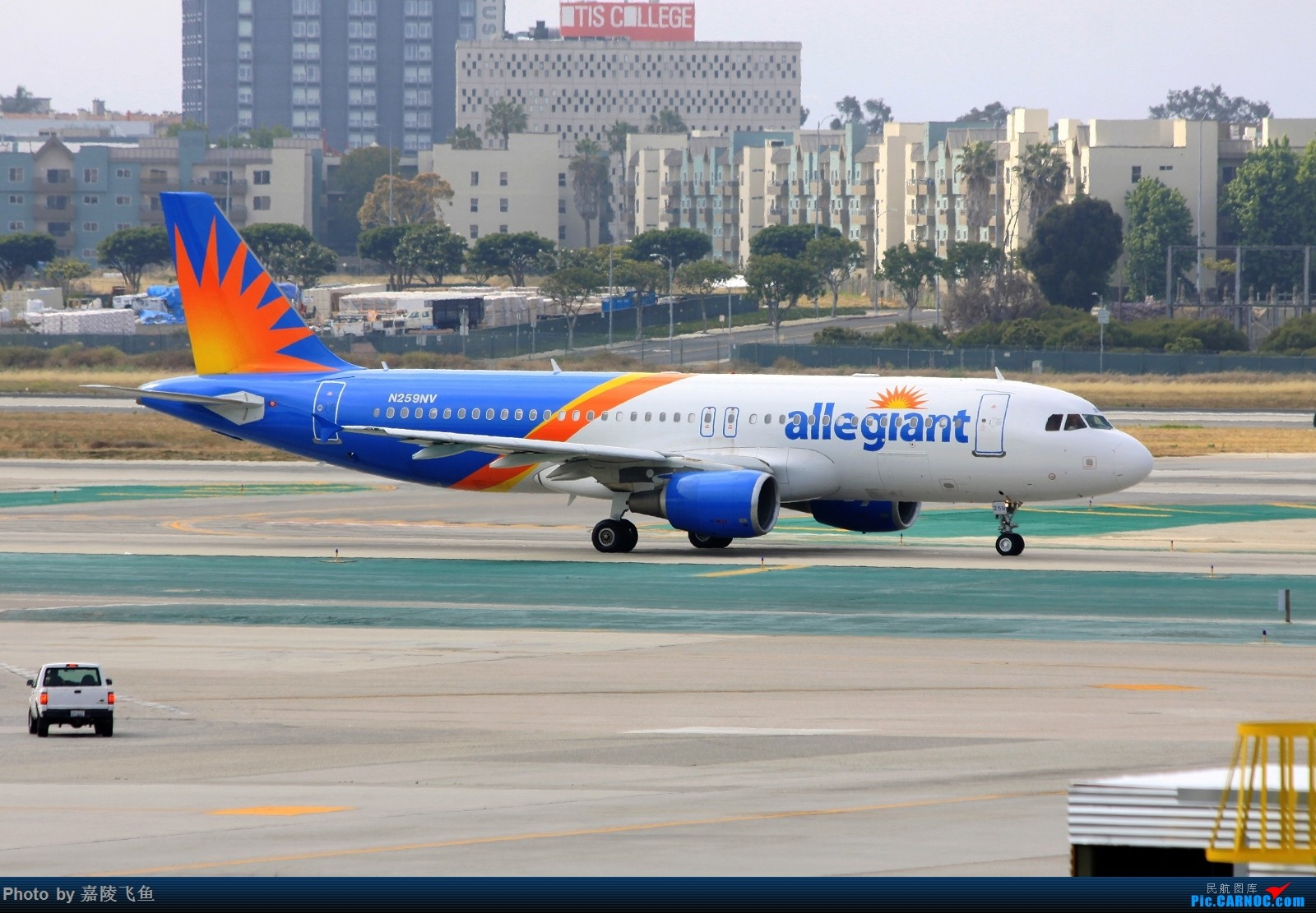 [原创]忠实 边疆 阿拉斯加还有其他 AIRBUS A320-200 N259NV 美国洛杉矶机场