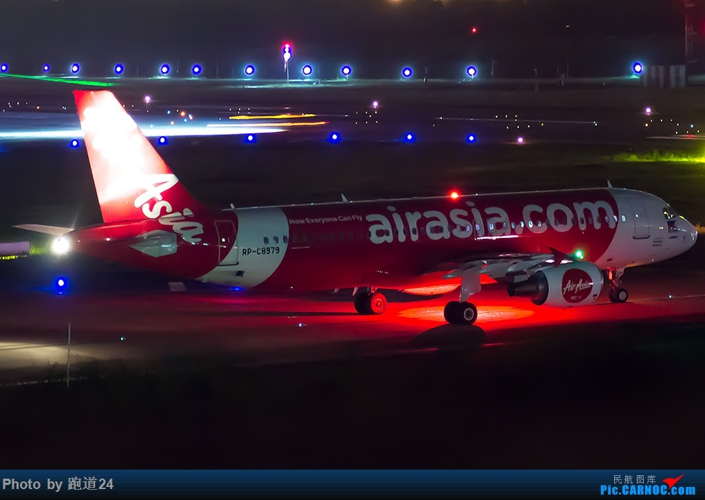 [原创]【一图党】CTU夜拍亚航320 AIRBUS A320-200 RP-C8979 中国成都双流国际机场