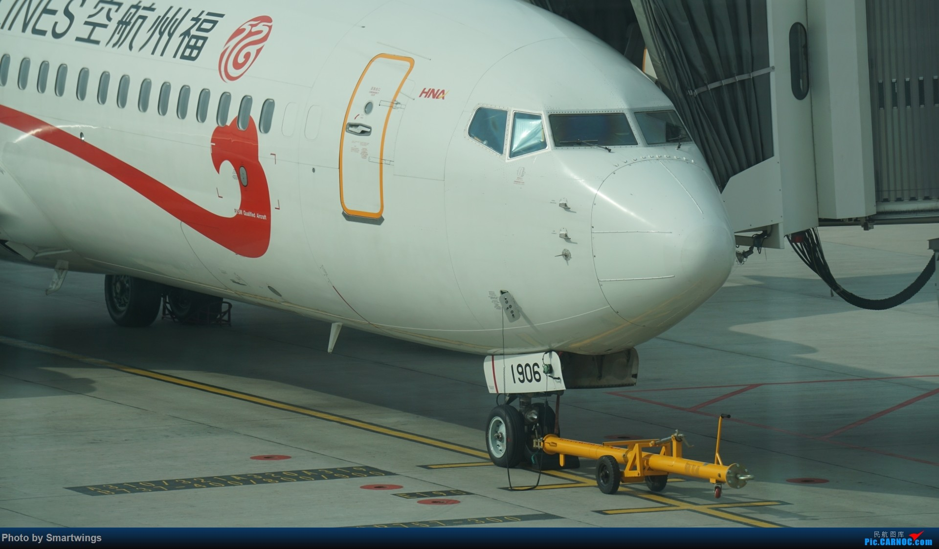 Re:内蒙古通航塞斯纳208初体验 BOEING 737-800 B-1906 中国海拉尔东山机场