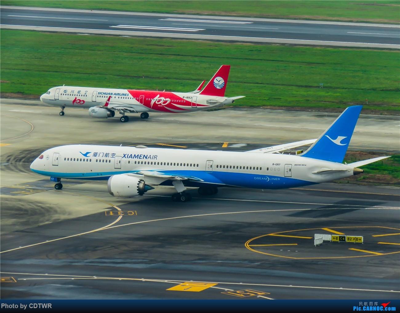 Re:[原创]换个角度拍机 成都塔台解锁 BOEING 787-9 B-1357 中国成都双流国际机场