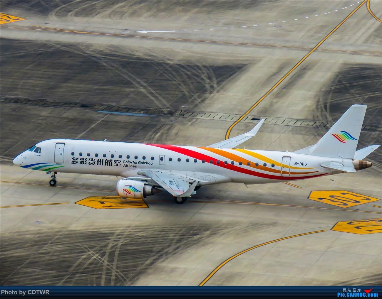 Re:[原创]换个角度拍机 成都塔台解锁 EMBRAER E-190 B-3116 中国成都双流国际机场