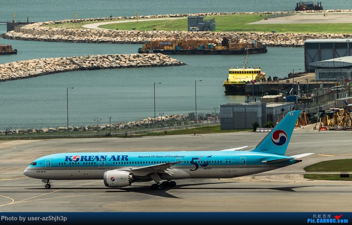 Re:[原创]飞机几片 BOEING 787 HL8081 香港国际机场