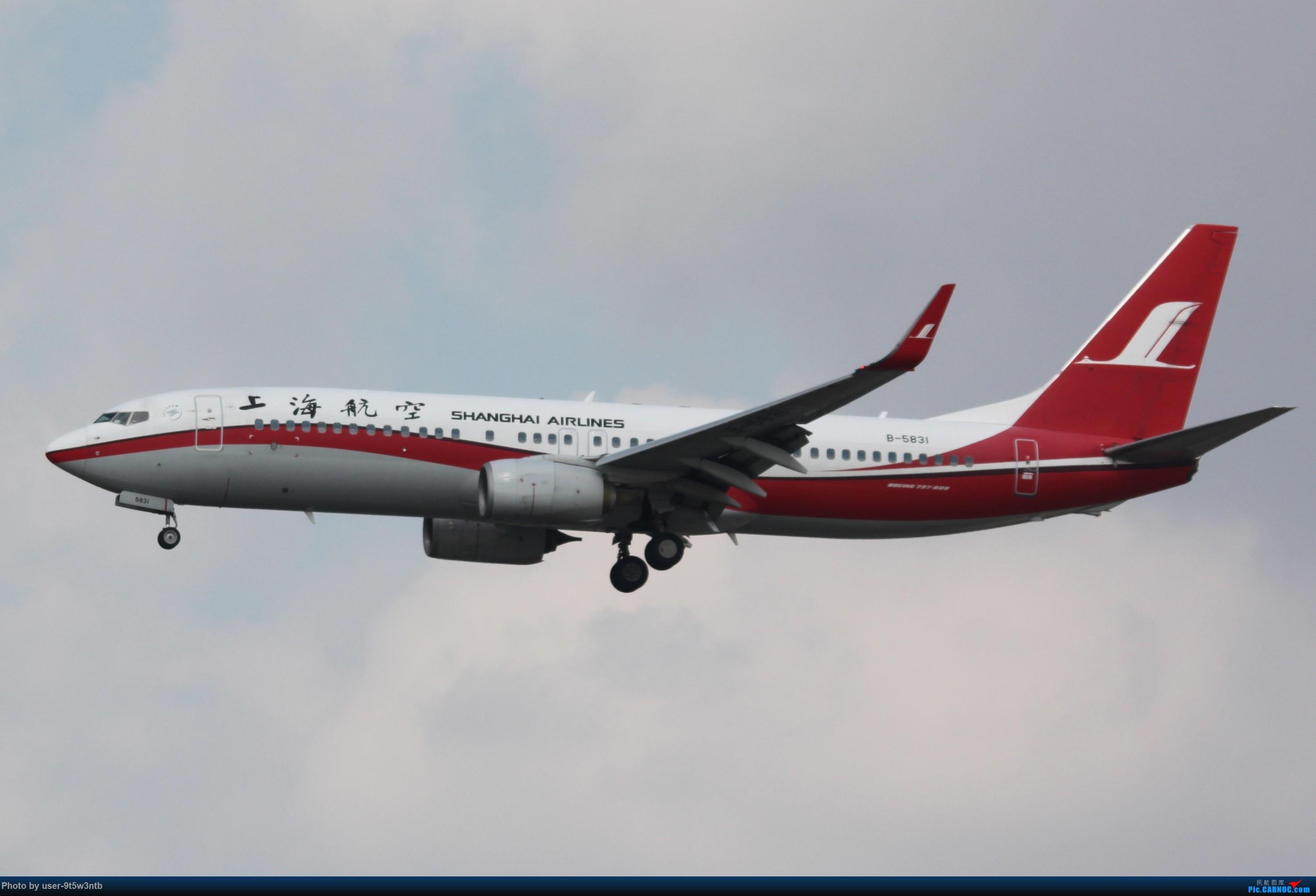 Re:[原创]虹桥机场炎热的早晨 BOEING 737-800 B-5831 中国上海虹桥国际机场