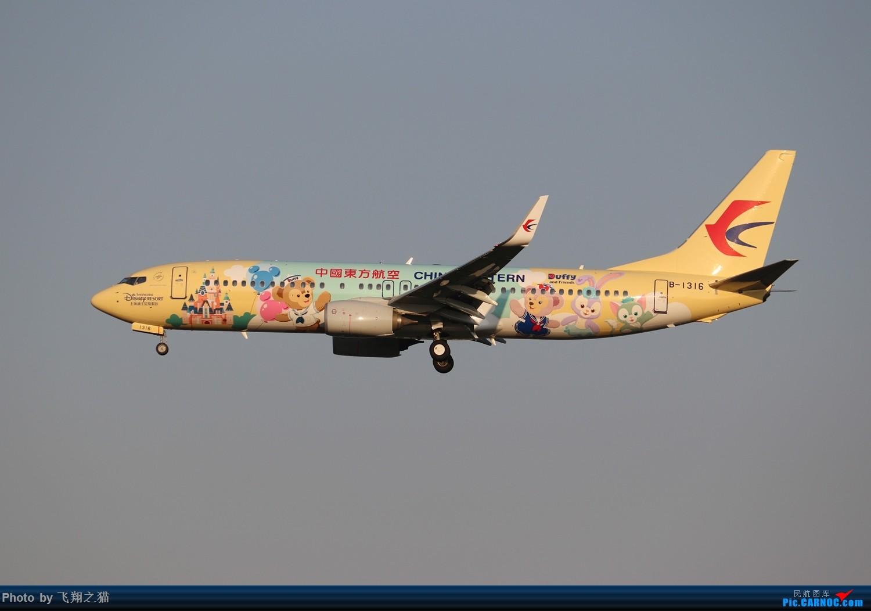 [原创]东航达菲联萌号首航CKG BOEING 737-800 B-1316 重庆江北国际机场