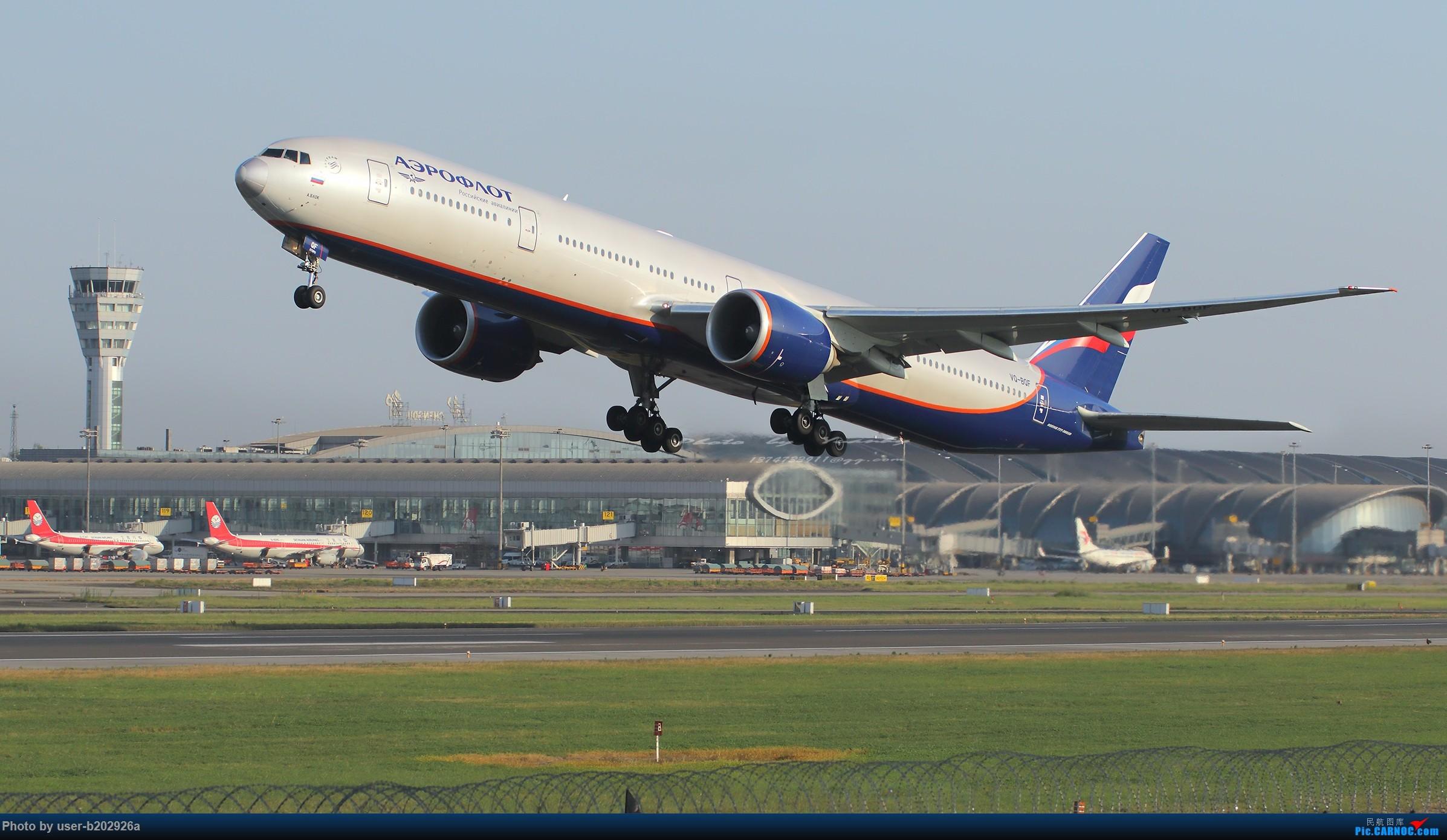 [原创]从CTU起飞的俄罗斯航空公司VQ-BQF BOEING 777-300ER VQ-BQF 成都双流国际机场