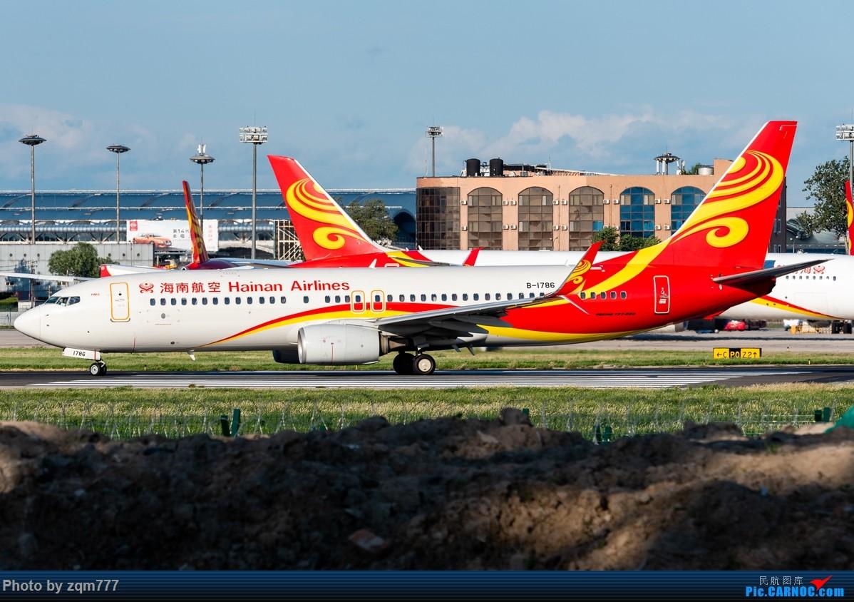 Re:[原创]【PEK】北京拍机杂图 BOEING 737-800 B-1786 中国北京首都国际机场