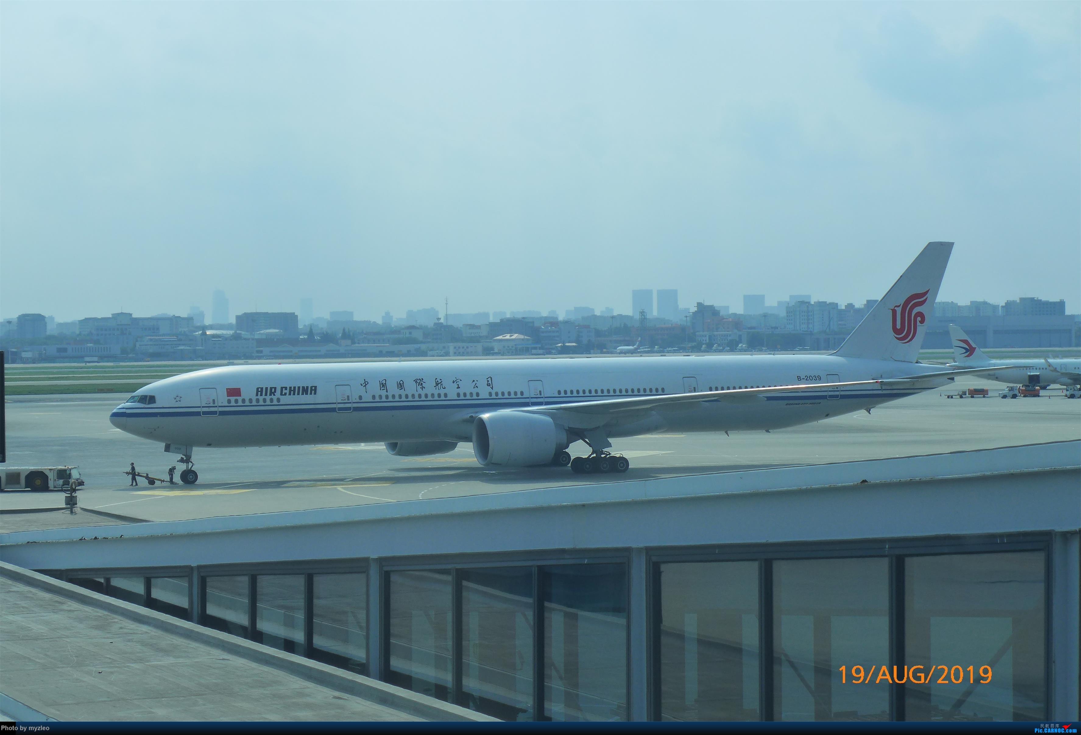 Re:[原创]【myzleo的游记5.1】梦圆一九(1)首搭国航359,北京城里到处走 BOEING 777-300ER B-2039 中国上海虹桥国际机场