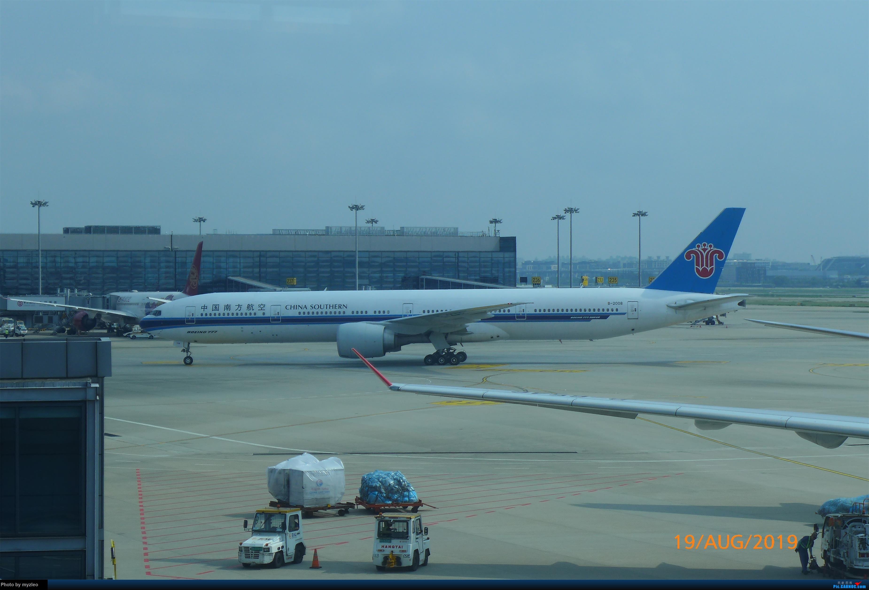 Re:[原创]【myzleo的游记5.1】梦圆一九(1)首搭国航359,北京城里到处走 BOEING 777-300ER B-2008 中国上海虹桥国际机场