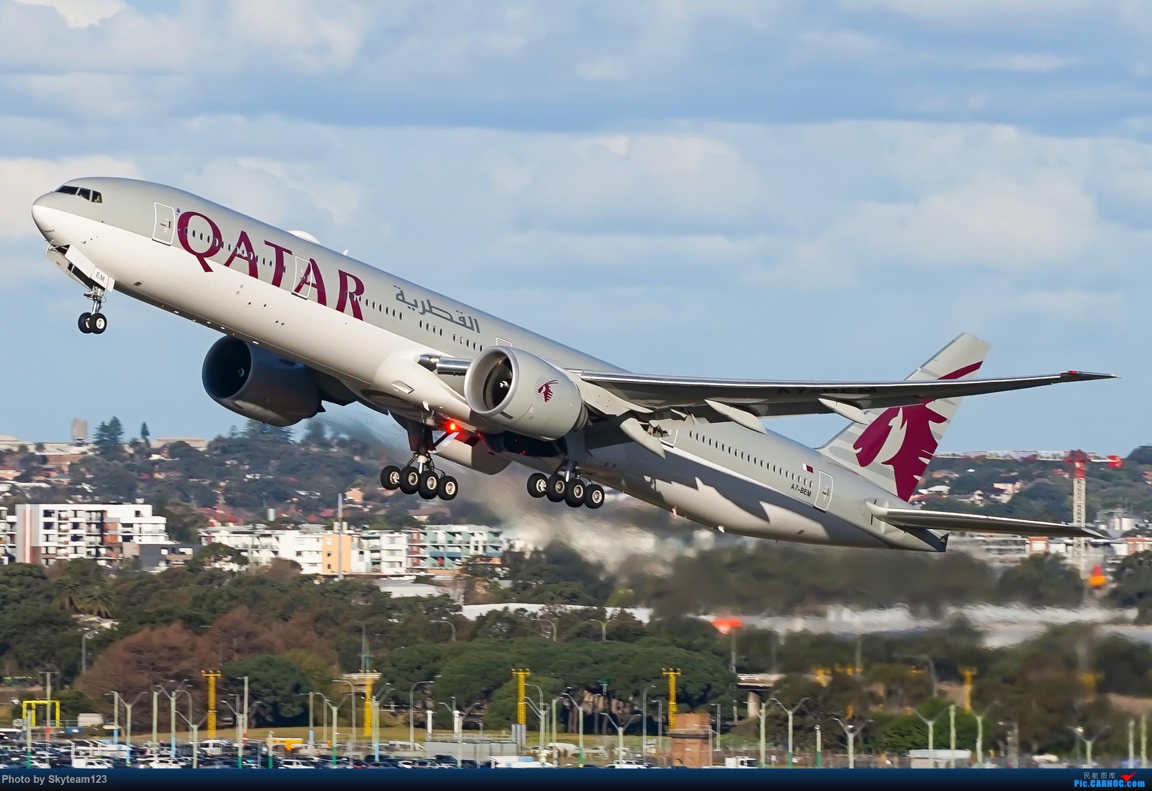 Re:[原创]【SYD】近期宽体精选杂图 BOEING 777-300ER A7-BEM 澳大利亚悉尼金斯福德·史密斯机场