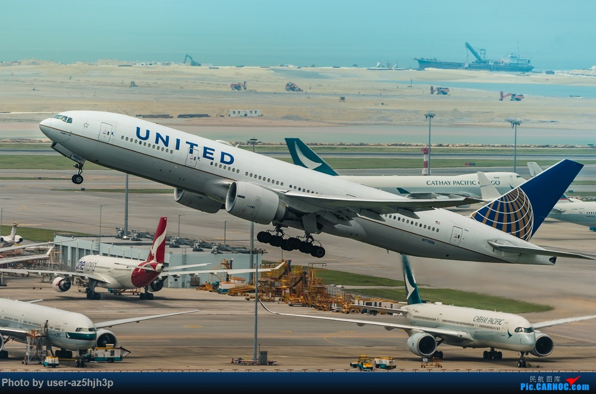 Re:[原创]8月21日 沙螺湾 BOEING 777-200 N77006 香港国际机场