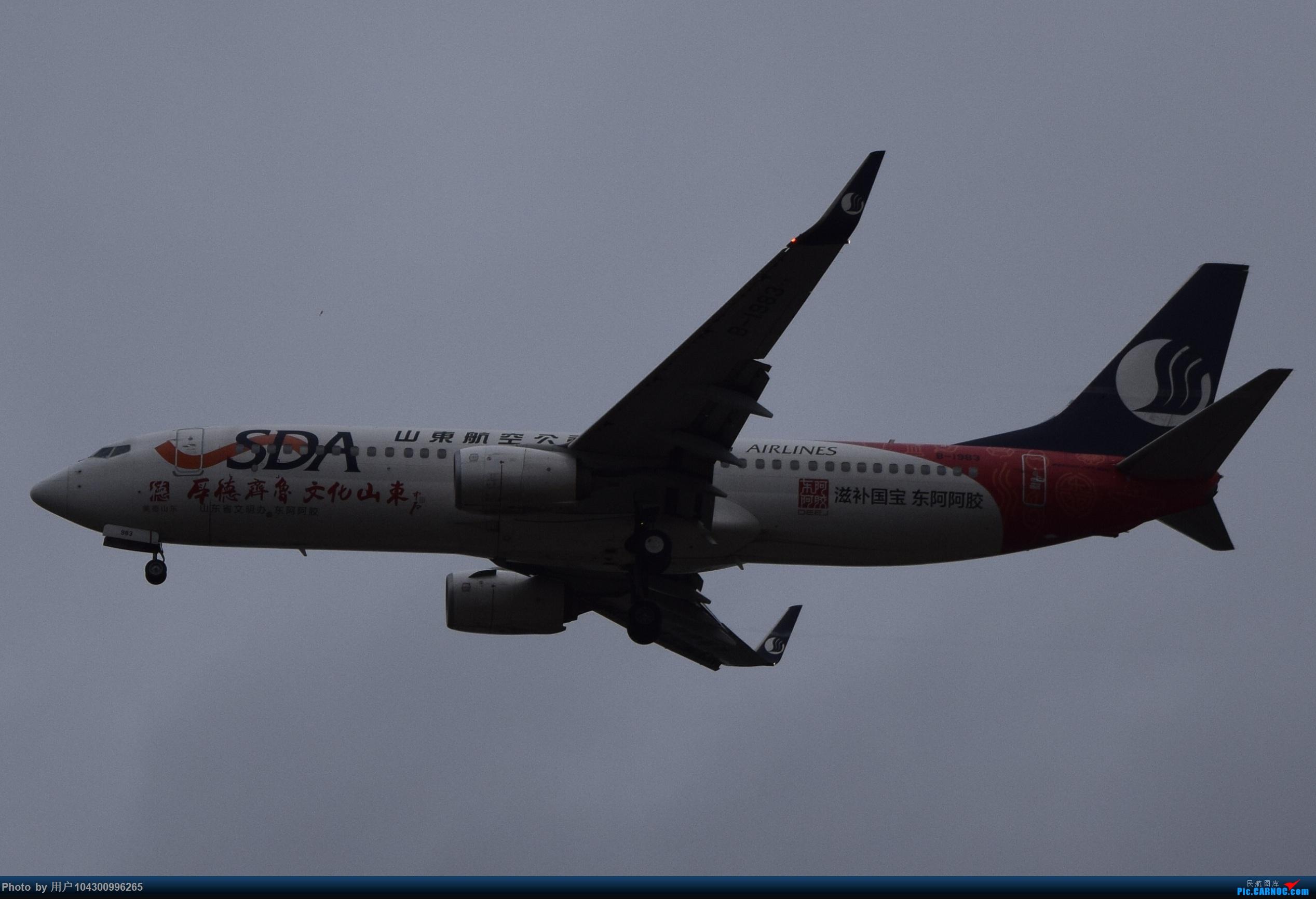 Re:[原创]乌云、雨雾之中的贵阳龙洞堡 BOEING 737-800 B-1983 中国贵阳龙洞堡国际机场