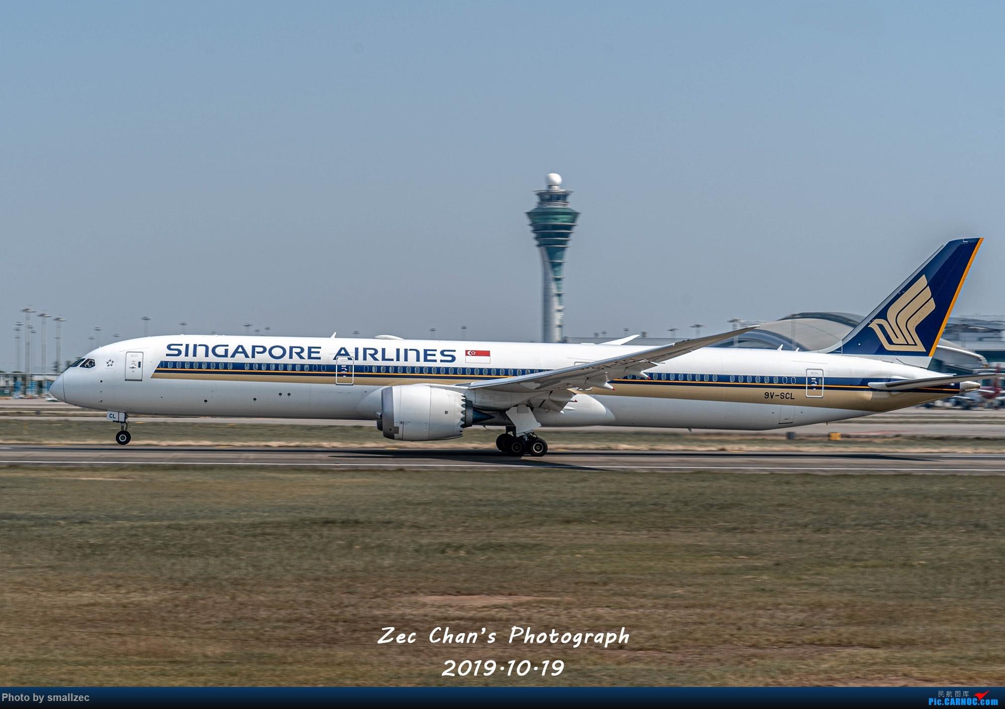 [原创]【一图】白云西跑,初遇新航B78X BOEING 787-10 9V-SCL 中国广州白云国际机场