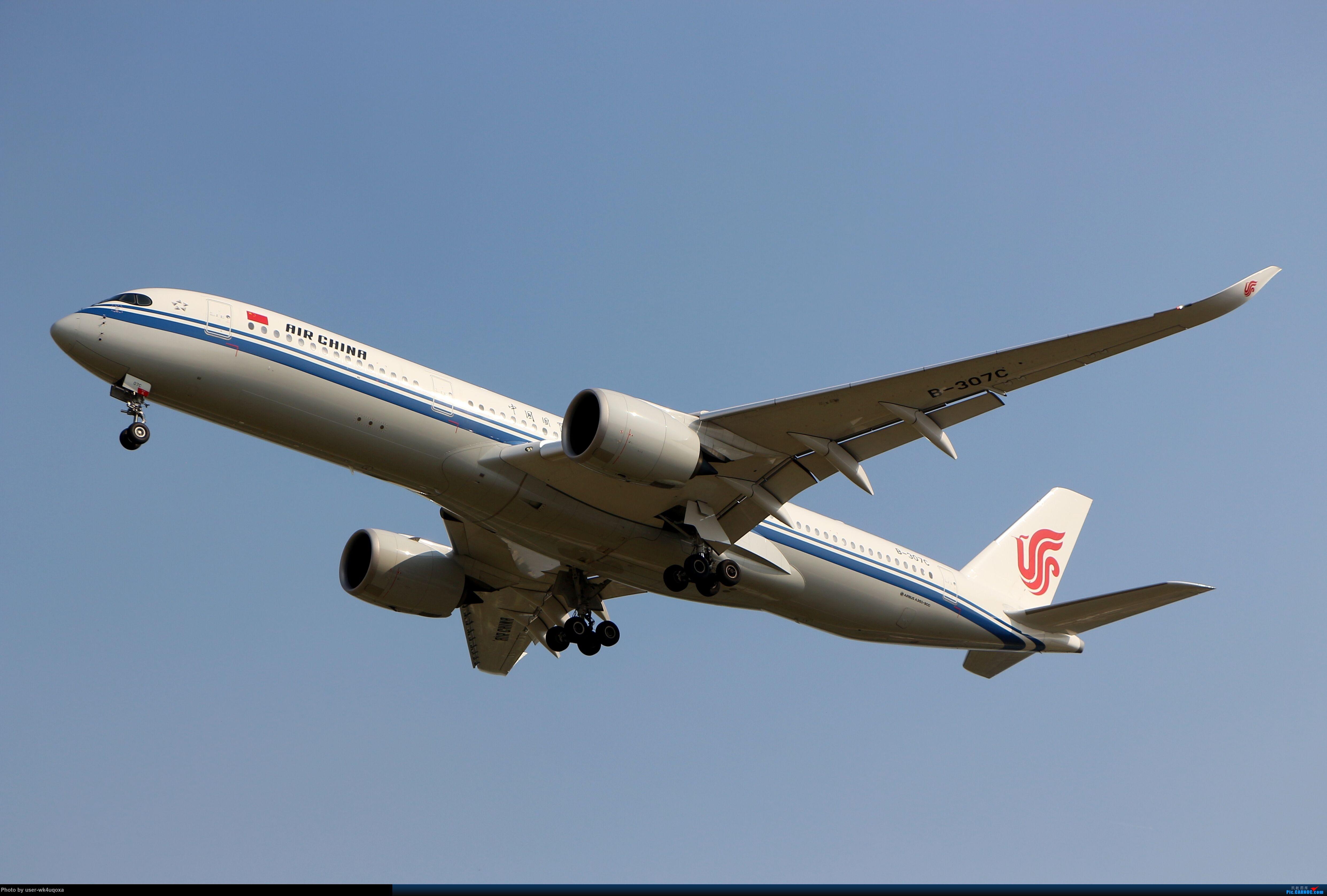 [原创]国航墨镜侠 AIRBUS A350-900 B-307C 首都机场T3航站楼东停