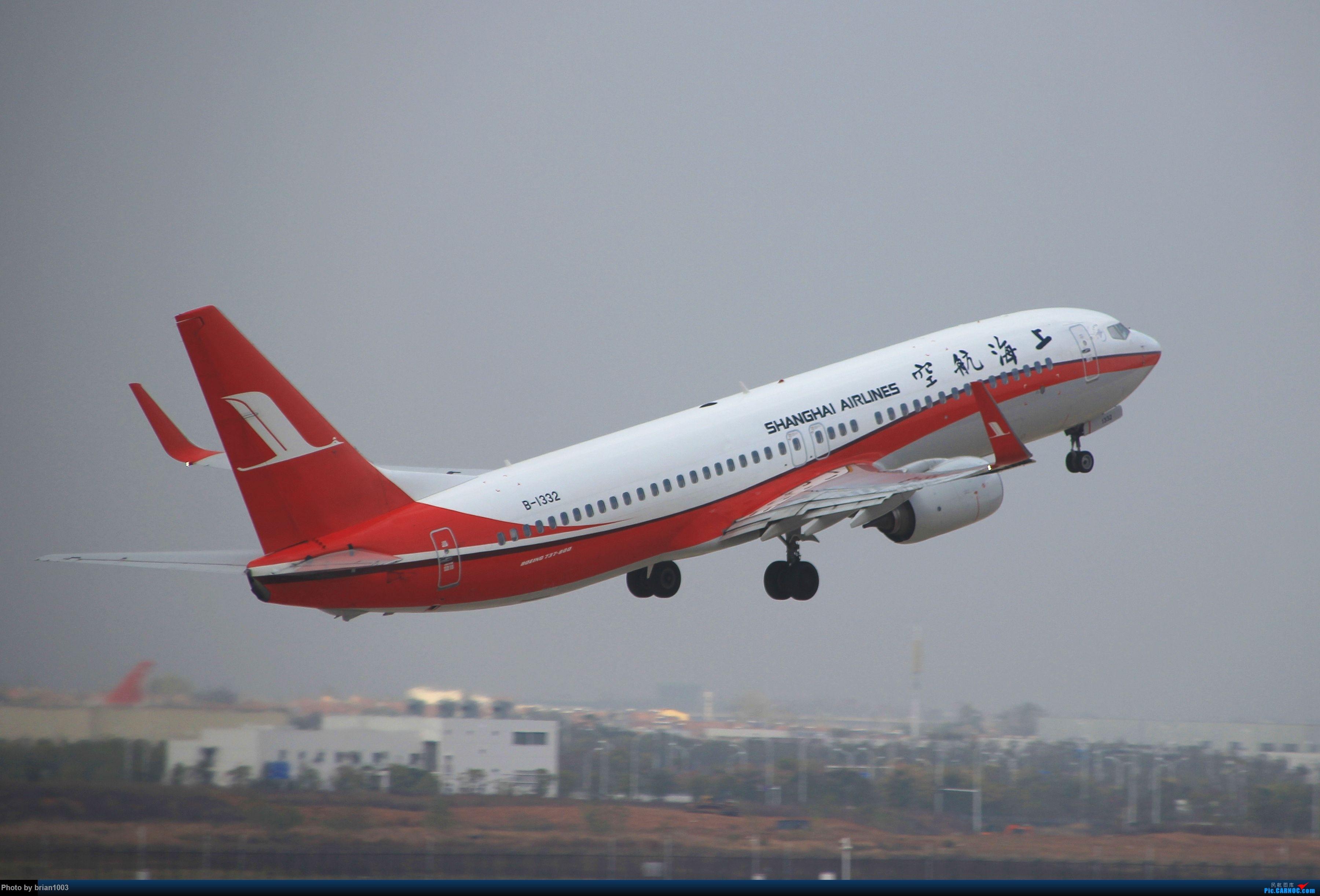 Re:[原创]WUH武汉天河机场拍机之新航季来的海航333和幸福的738 BOEING 737-800 B-1332 中国武汉天河国际机场