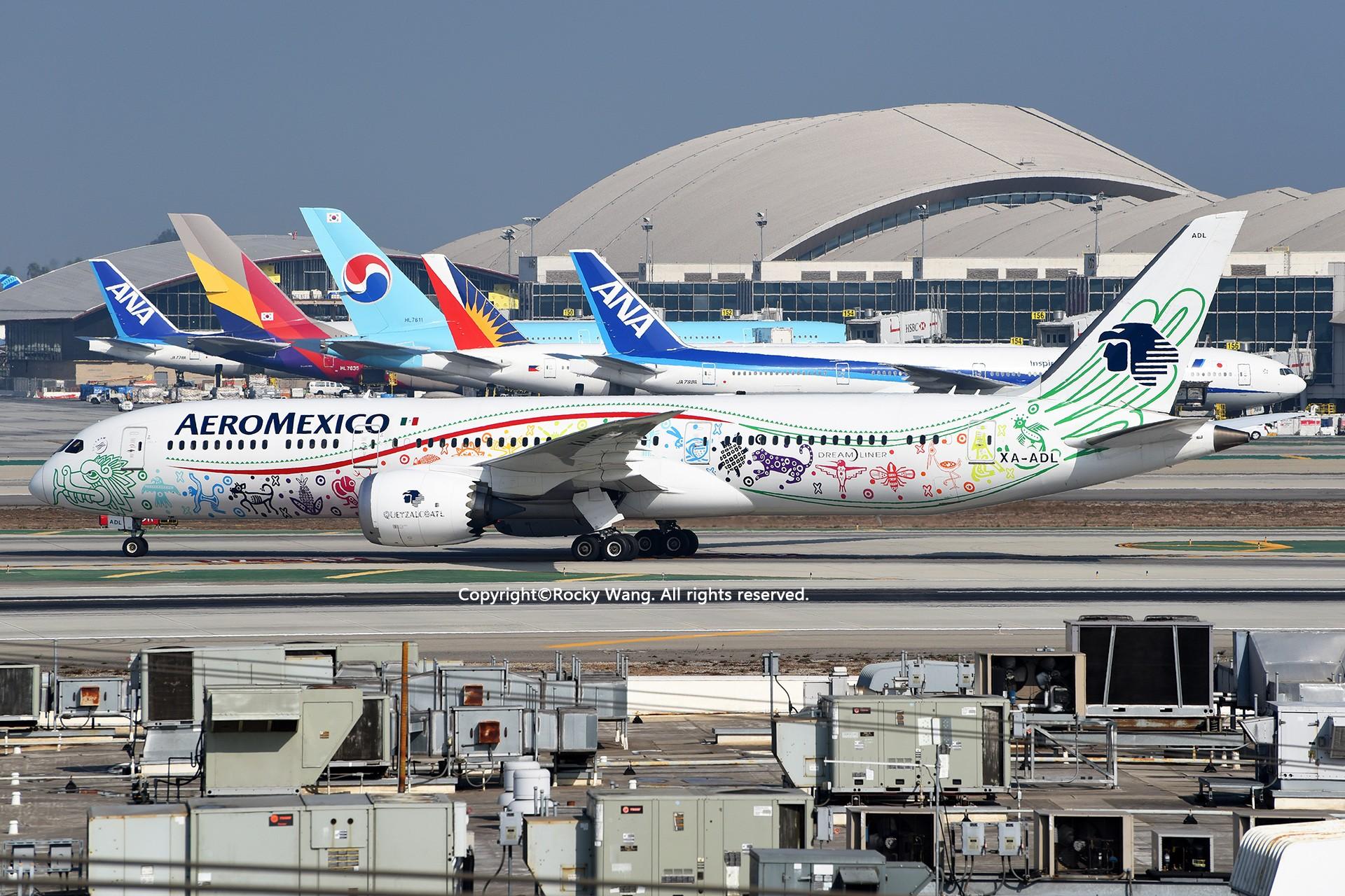 [原创]彩绘圣地-附加彩蛋 BOEING 787-9 DREAMLINER XA-ADL Los Angeles Int'l Airport