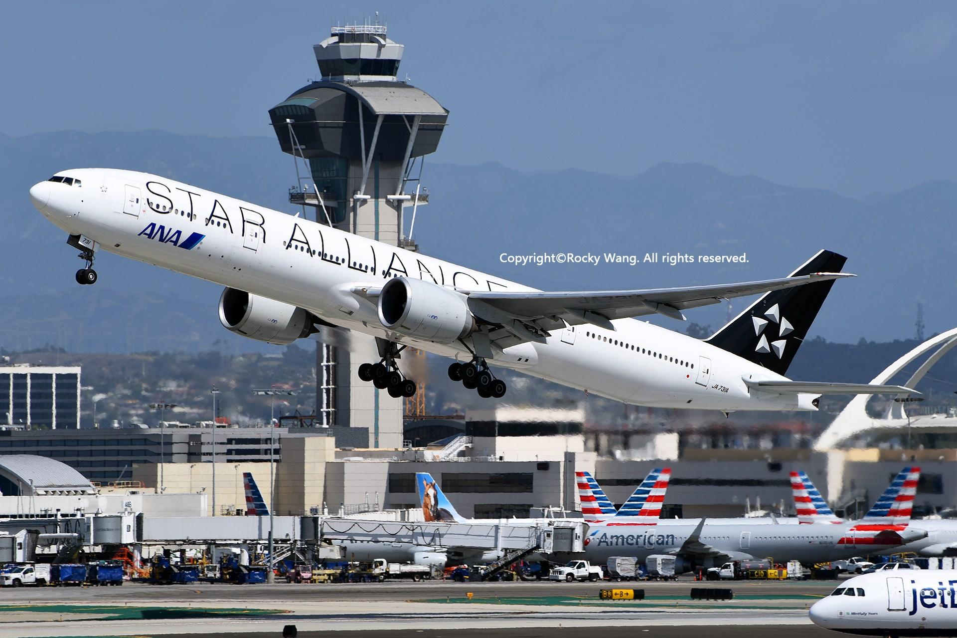 Re:[原创]彩绘圣地-附加彩蛋 BOEING 777-381ER JA731A Los Angeles Int'l Airport