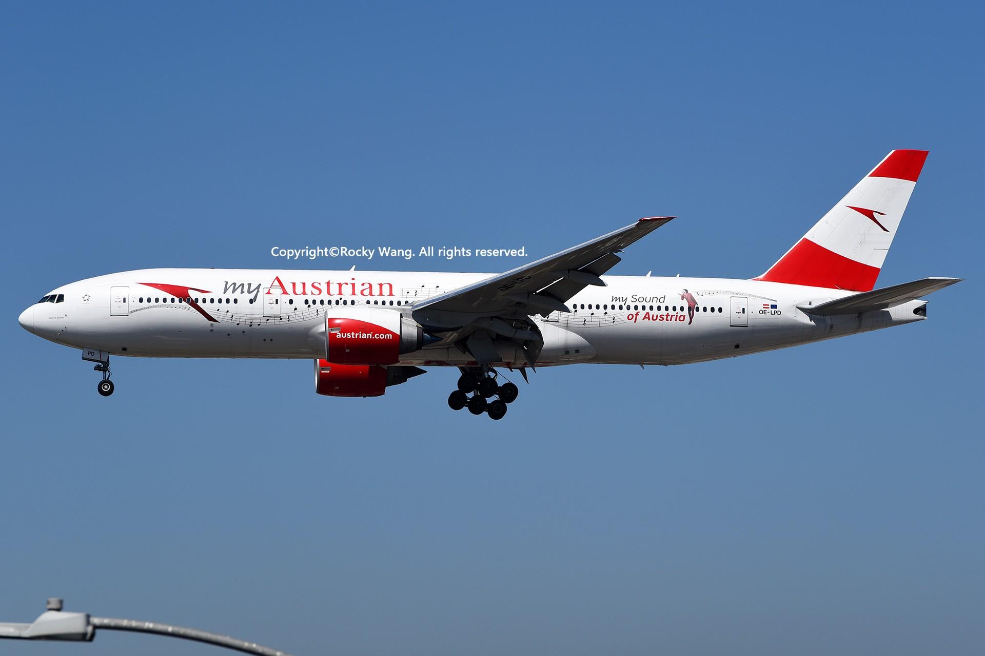 Re:[原创]彩绘圣地-附加彩蛋 BOEING 777-2Z9(ER) OE-LPD Los Angeles Int'l Airport