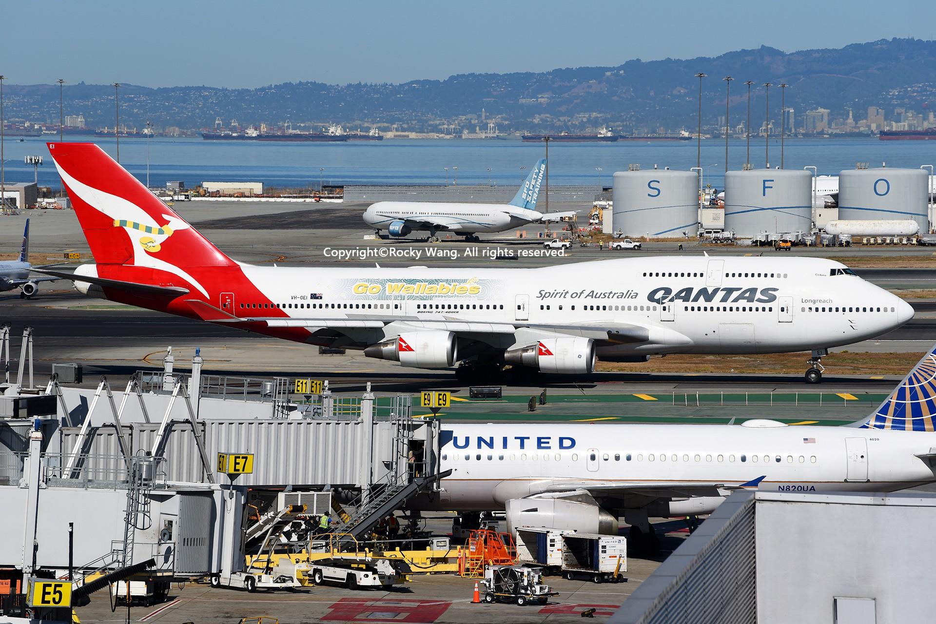 Re:[原创]彩绘圣地-附加彩蛋 BOEING 747-438ER VH-OEI San Francisco Int'l Airport