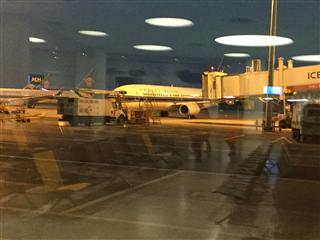 新鄭機場停機坪一隅