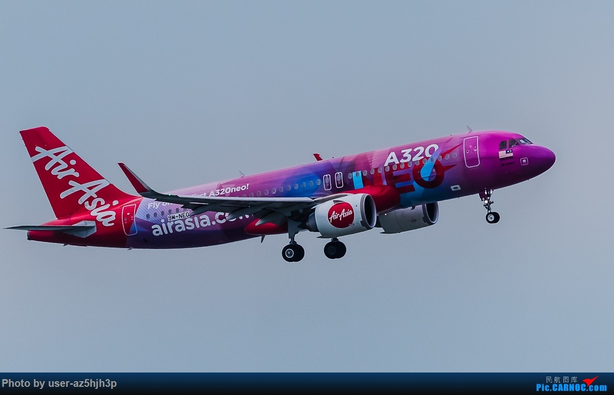Re:[原创]亚航飞机几架 AIRBUS A320 9M-NED 香港国际机场