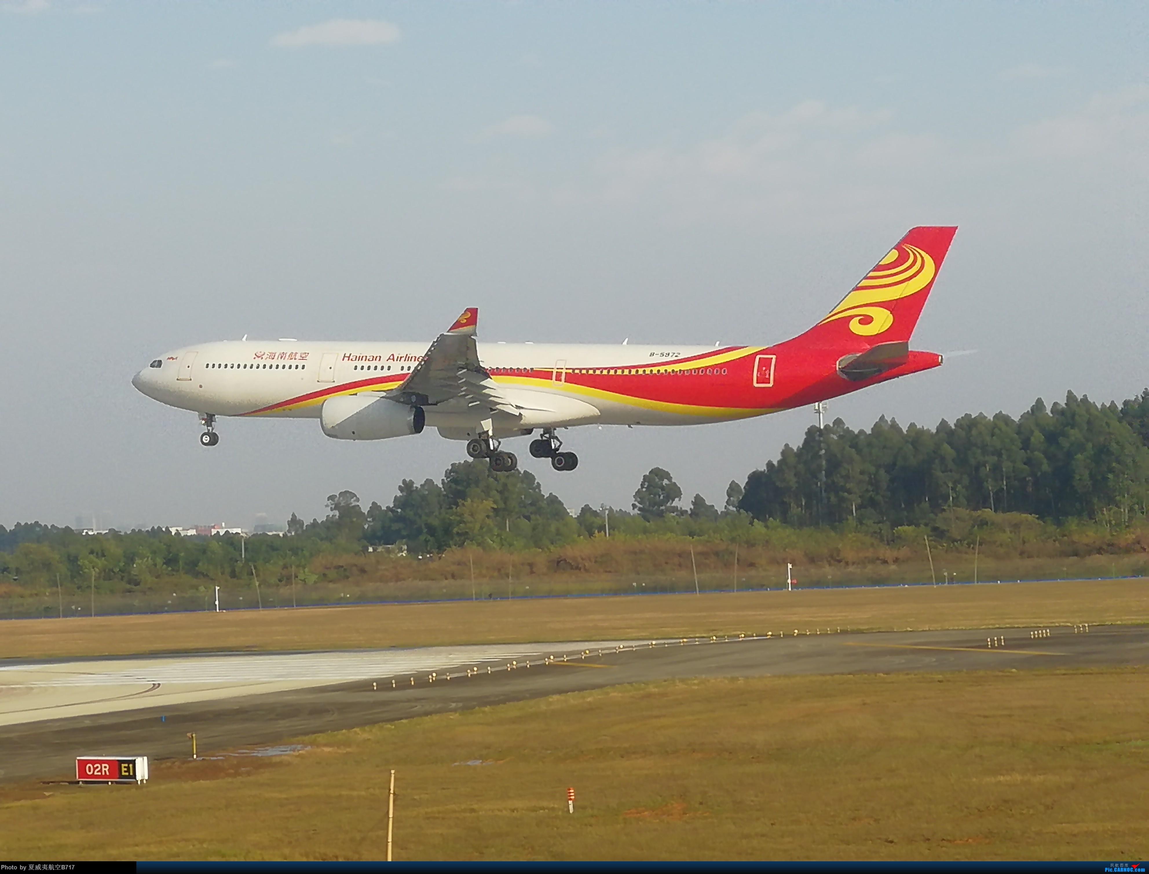 [原创]海南航空332降落 A330-200 B5972 CTU