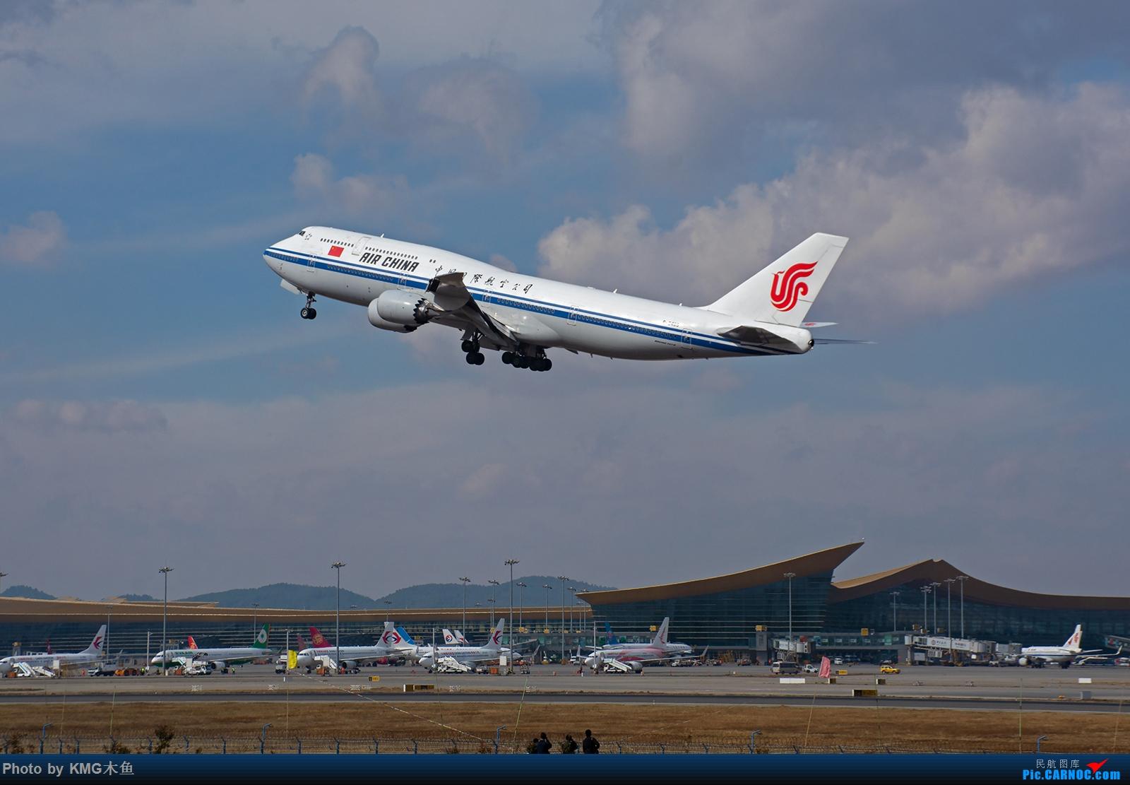 [原创]【2020昆明长水国际机场——KMG木鱼拍机】今年第一次发帖,老地方,见证大飞机起飞 BOEING 747-8I B-2485 中国昆明长水国际机场