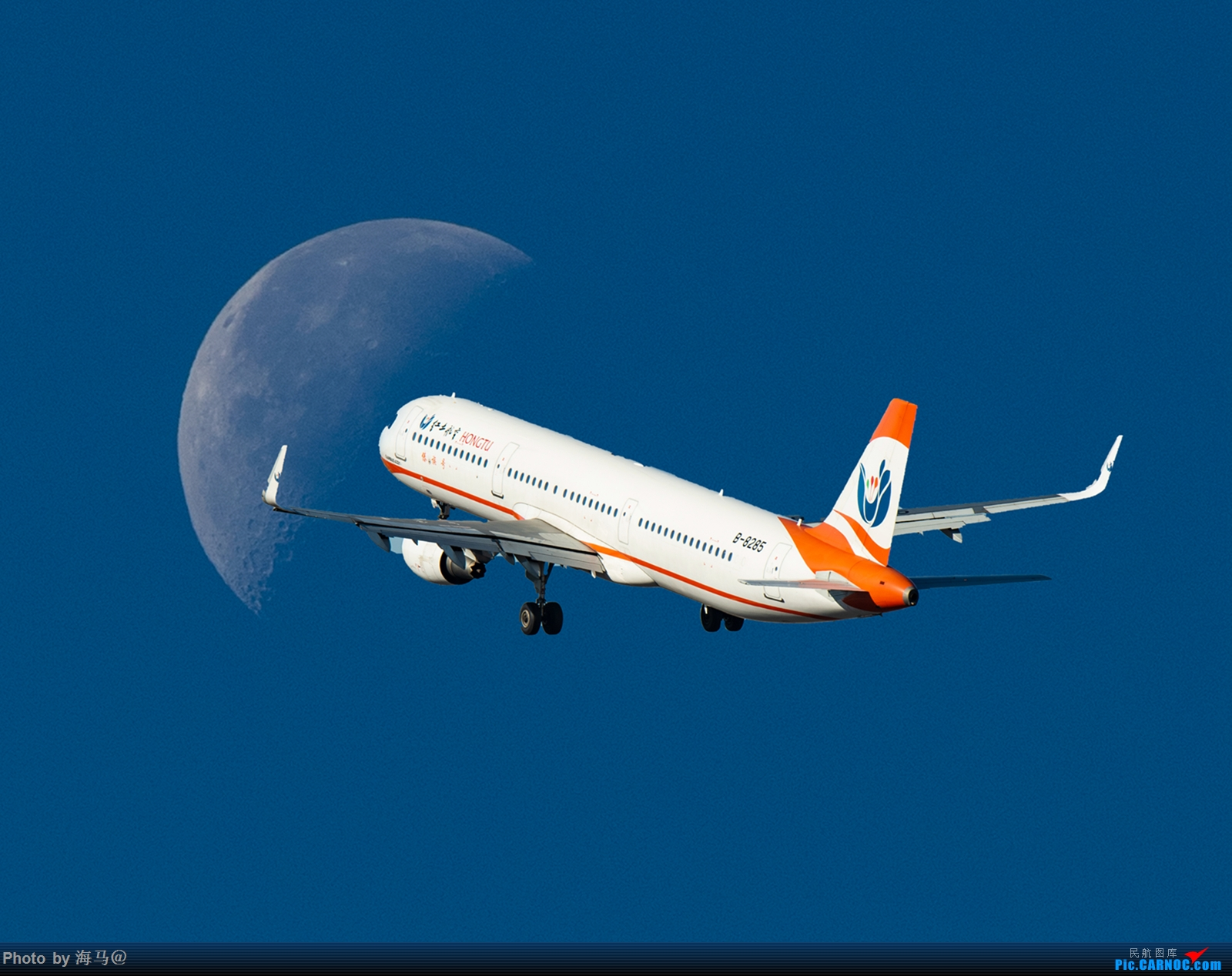 Re:[原创]飞机穿月 AIRBUS A321-200 B-8285 中国昆明长水国际机场