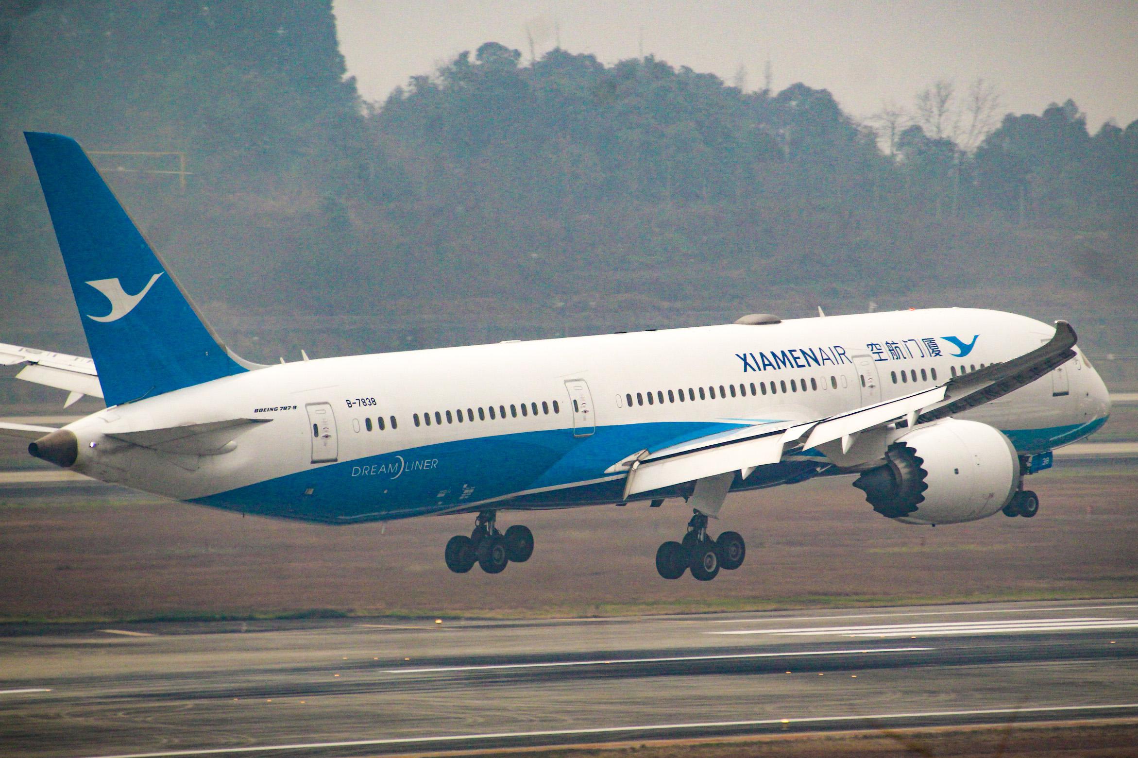 CTU水泥天拍机,验证烂天好货的铁律 BOEING 787-9 B-7838 中国成都双流国际机场