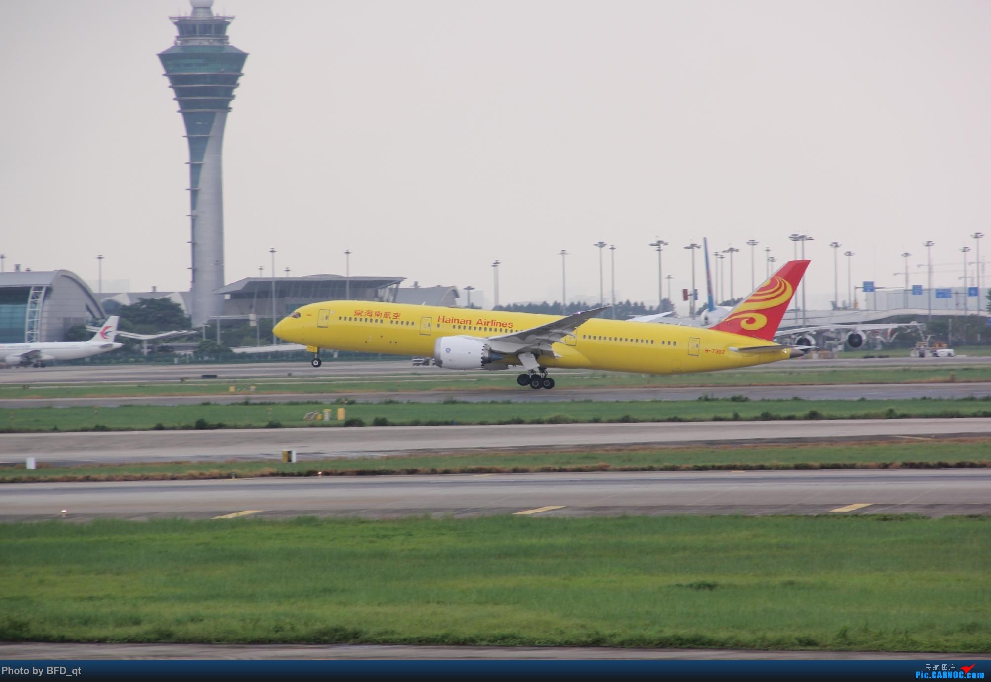 8.26白云东鬼海航789起飞 ZGGG/CAN BOEING 787-9 B-7302 中国广州白云国际机场