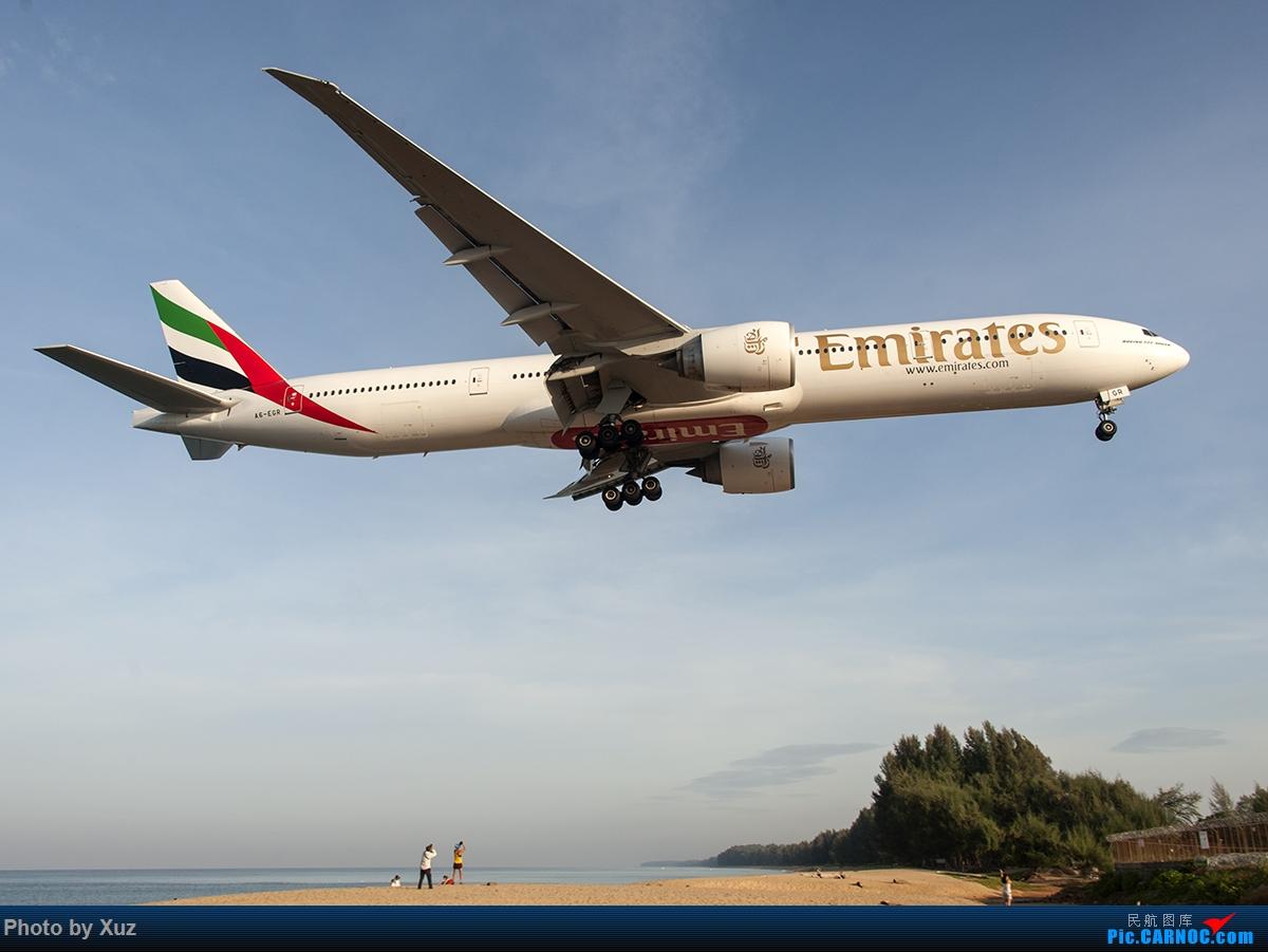 Re:[原创]亚洲的圣马丁-普吉机场拍机 BOEING 777-300 A6-EGR 泰国普吉机场