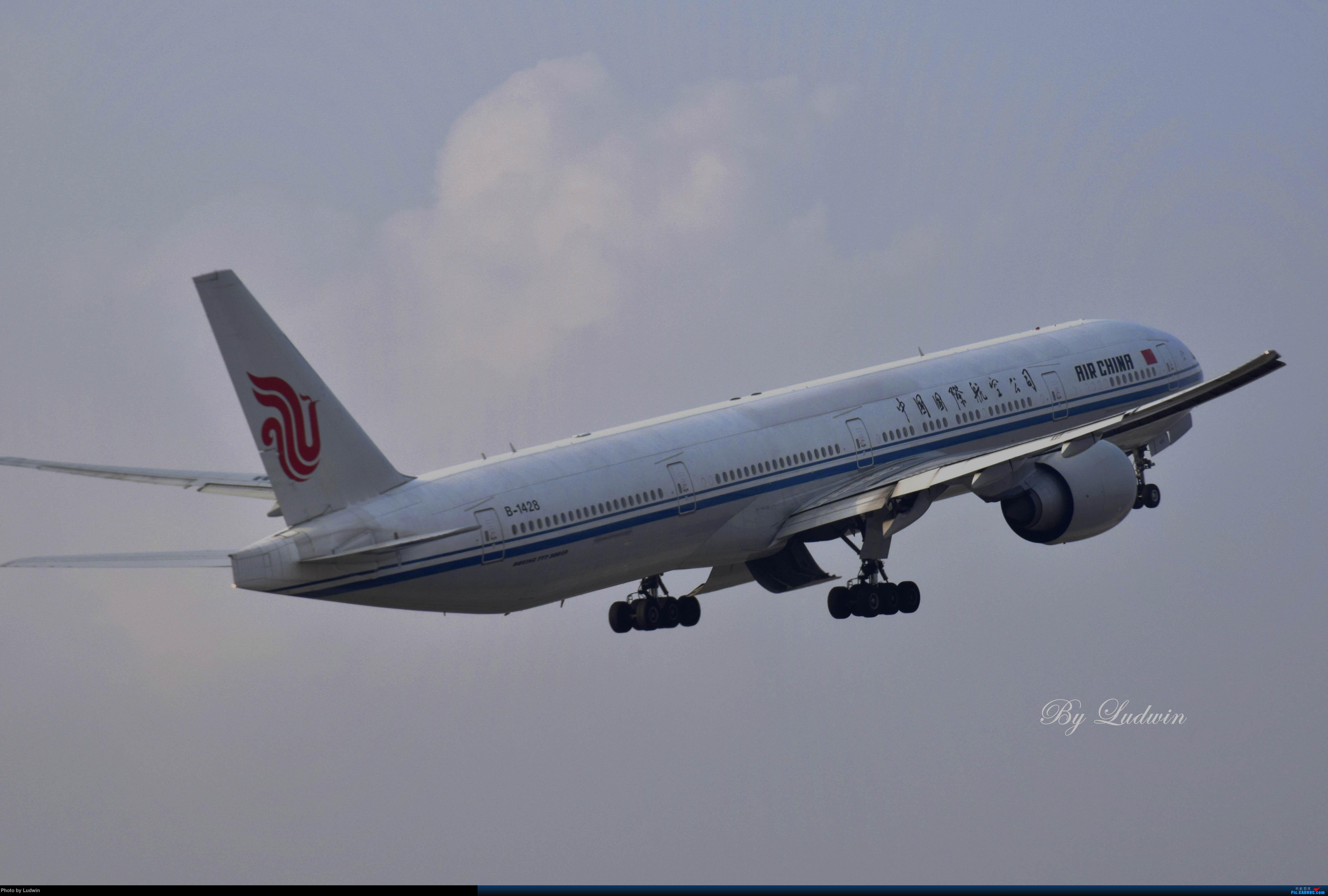 【新人首发】重庆江北的下午 BOEING 777-300ER B-1428 中国重庆江北国际机场