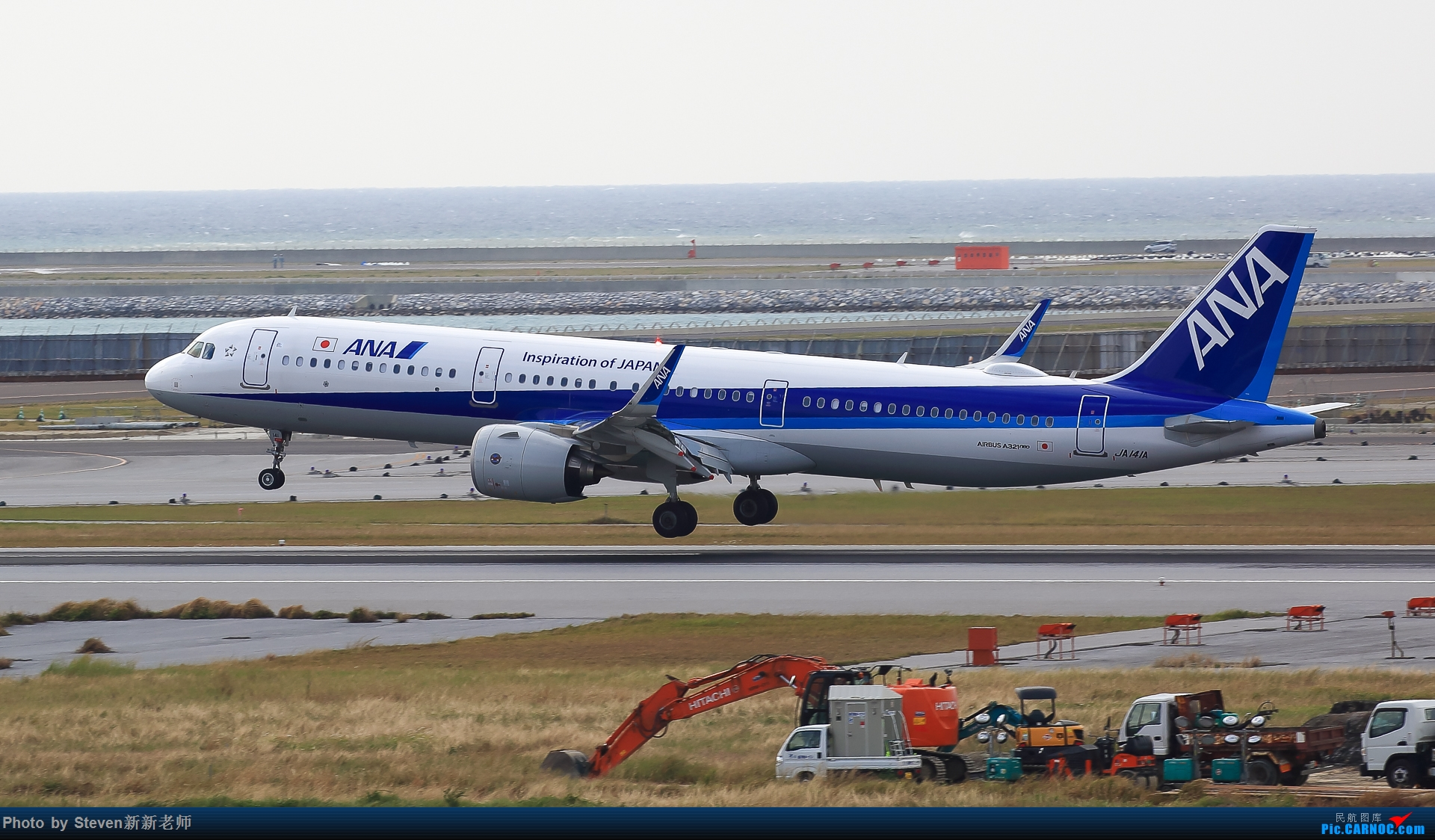Re:2020冲绳拍机行(民航篇) AIRBUS A321NEO JA141A 日本那霸机场