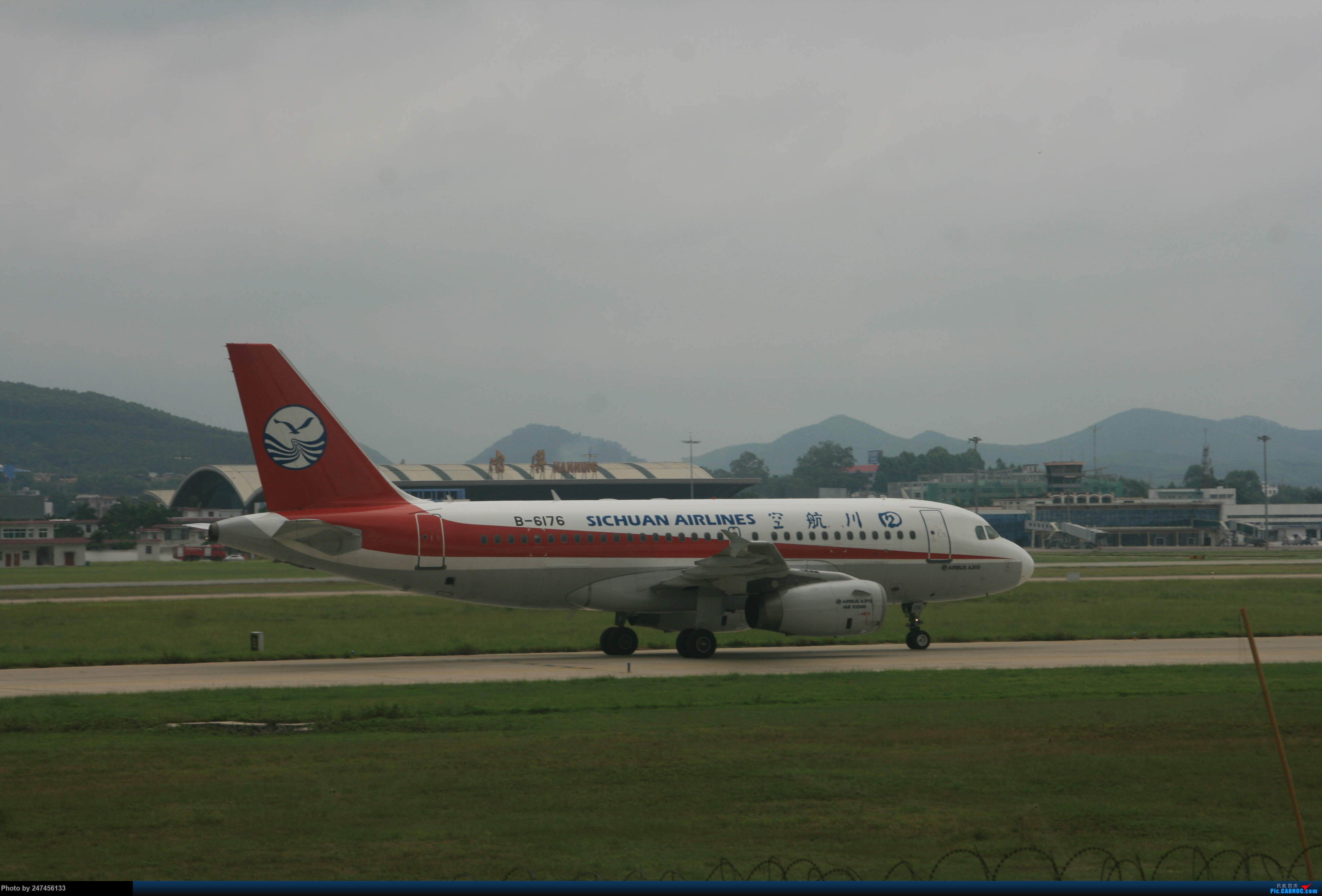 川航A319 AIRBUS A319-100 B-6176 中国南宁吴圩国际机场