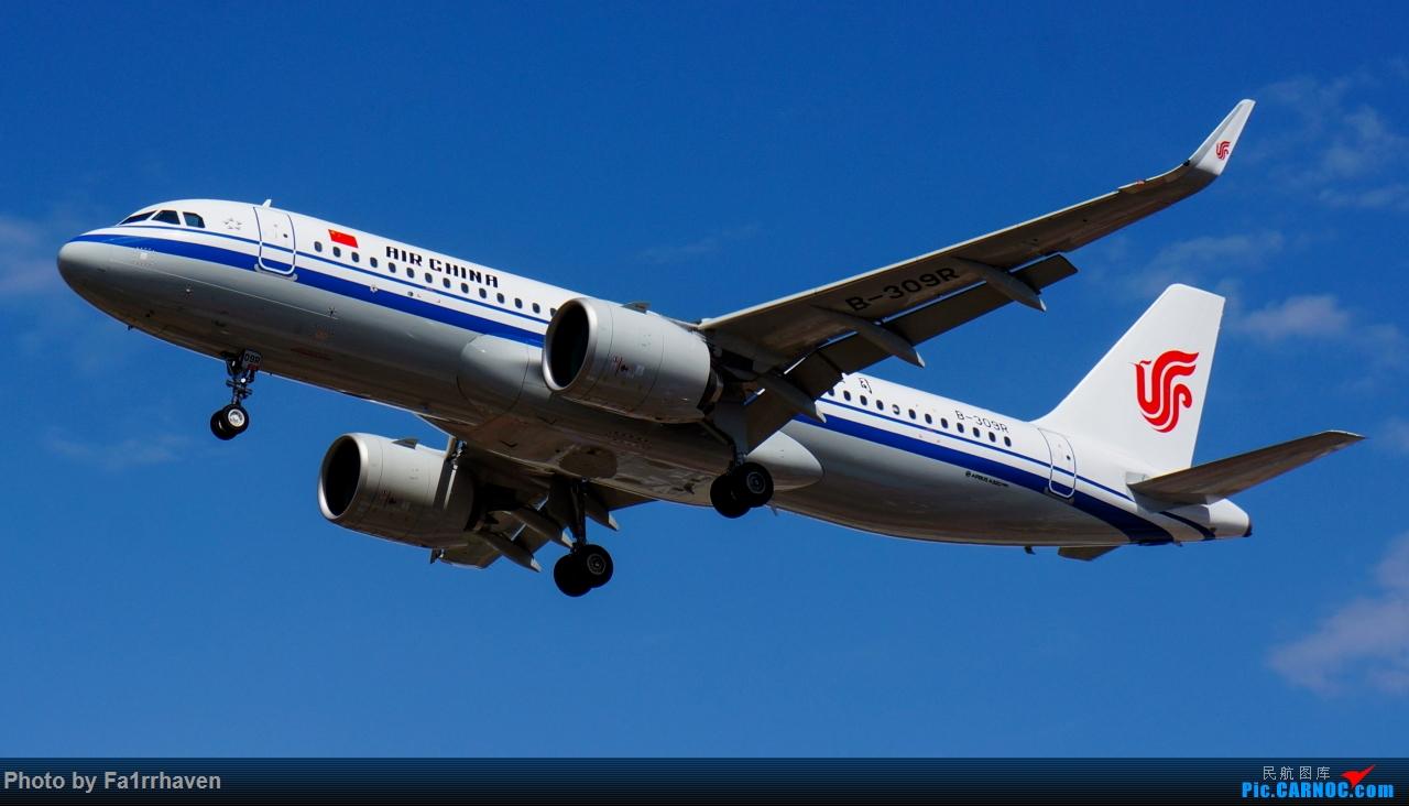 一图流——国航A320-271N AIRBUS A320NEO B-309R 中国呼和浩特白塔国际机场