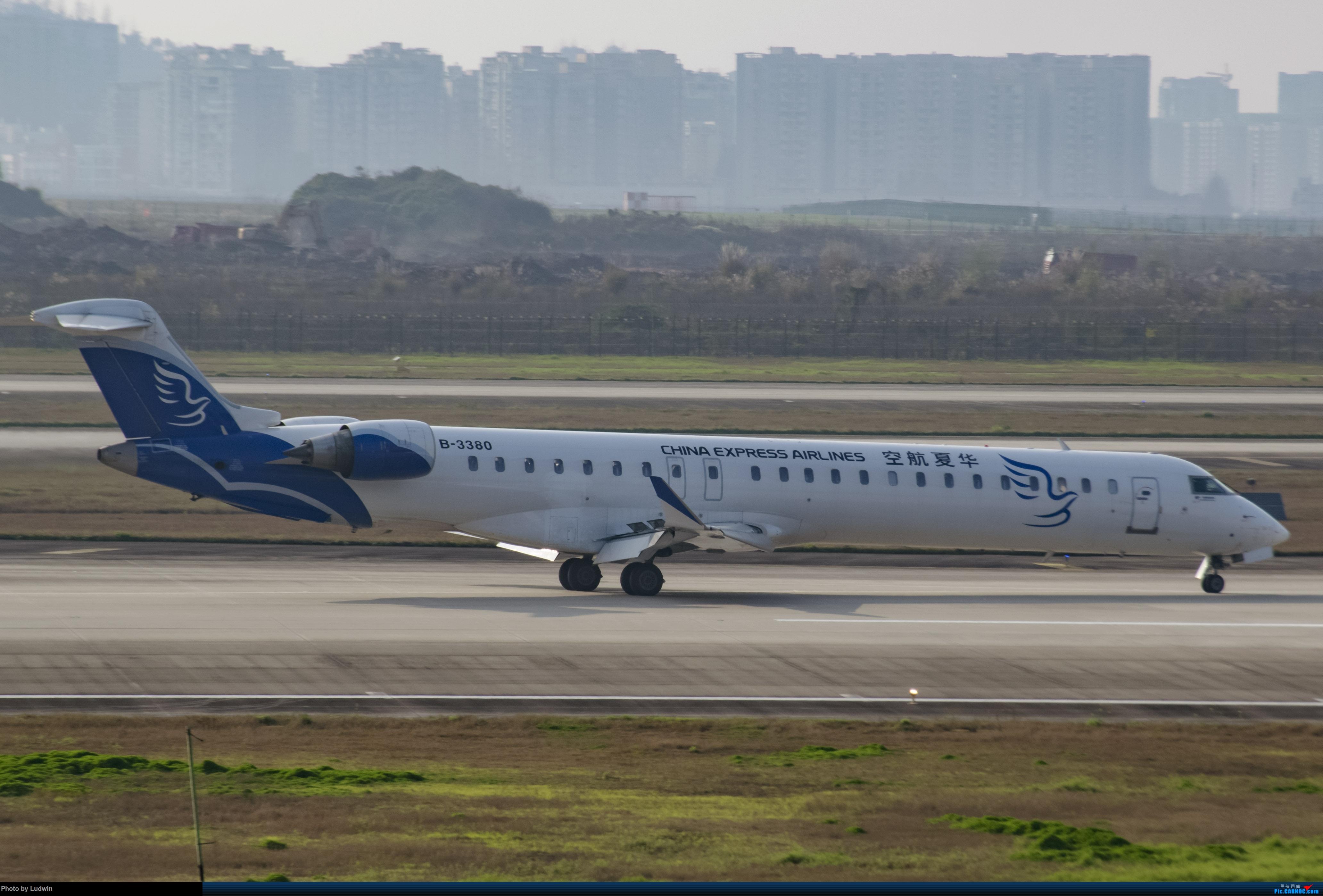 [原创]疫情影响下的ZUCK BOMBARDIER CRJ900NG B-3380 中国重庆江北国际机场